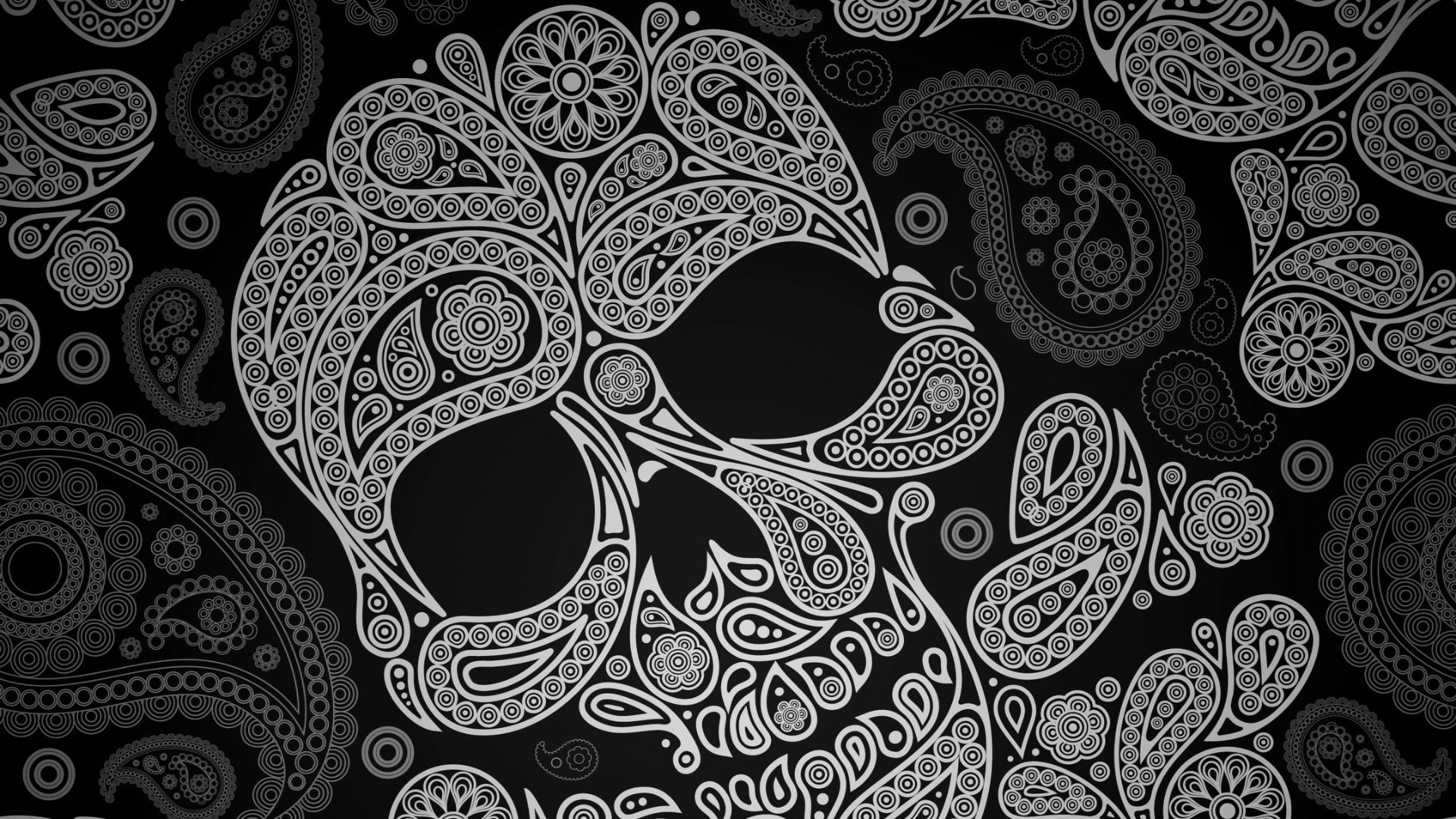 1920x1080 Girly Sugar Skull Wallpaper Paisley skull wallpaper