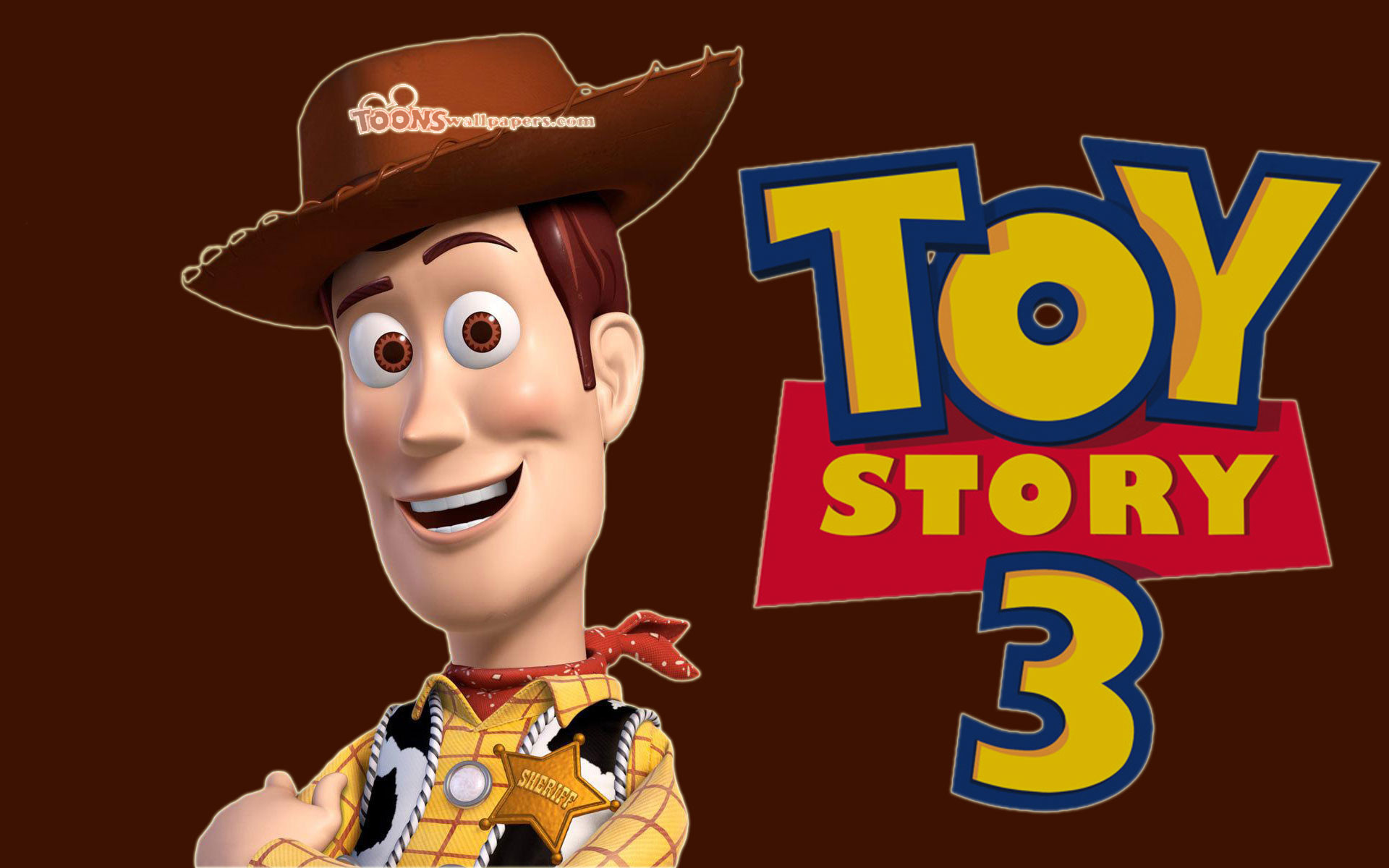 1920x1200 Cartoons Wallpapers - Toy Story 3 - Woody Brown  wallpaper