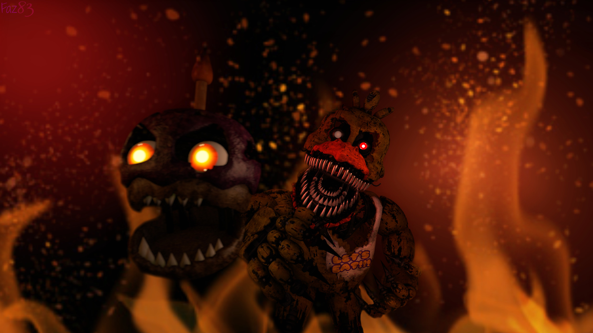 2262x1272 (SFM/FNAF 4) Nightmare Chica by Fazband83 on DeviantArt