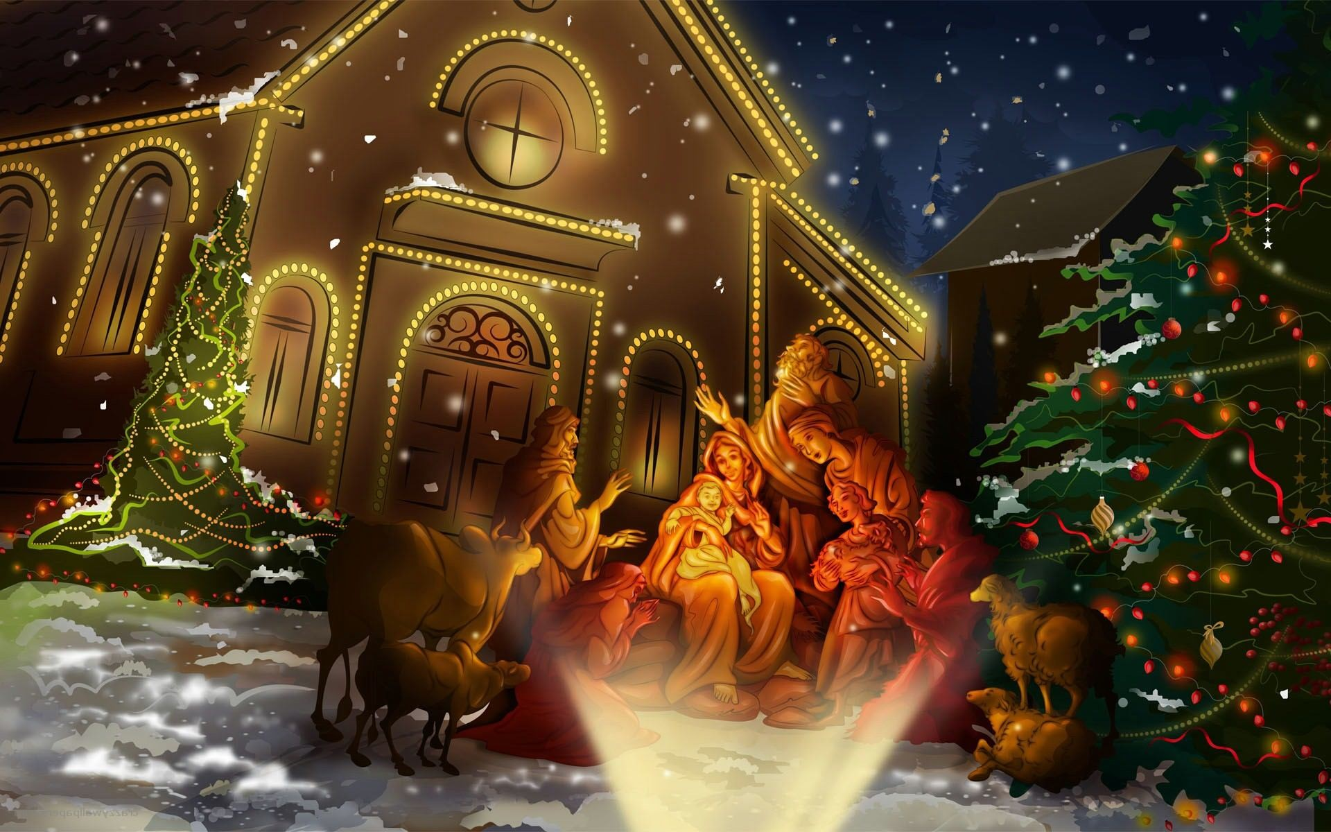 1920x1200 Jesus Birth Day