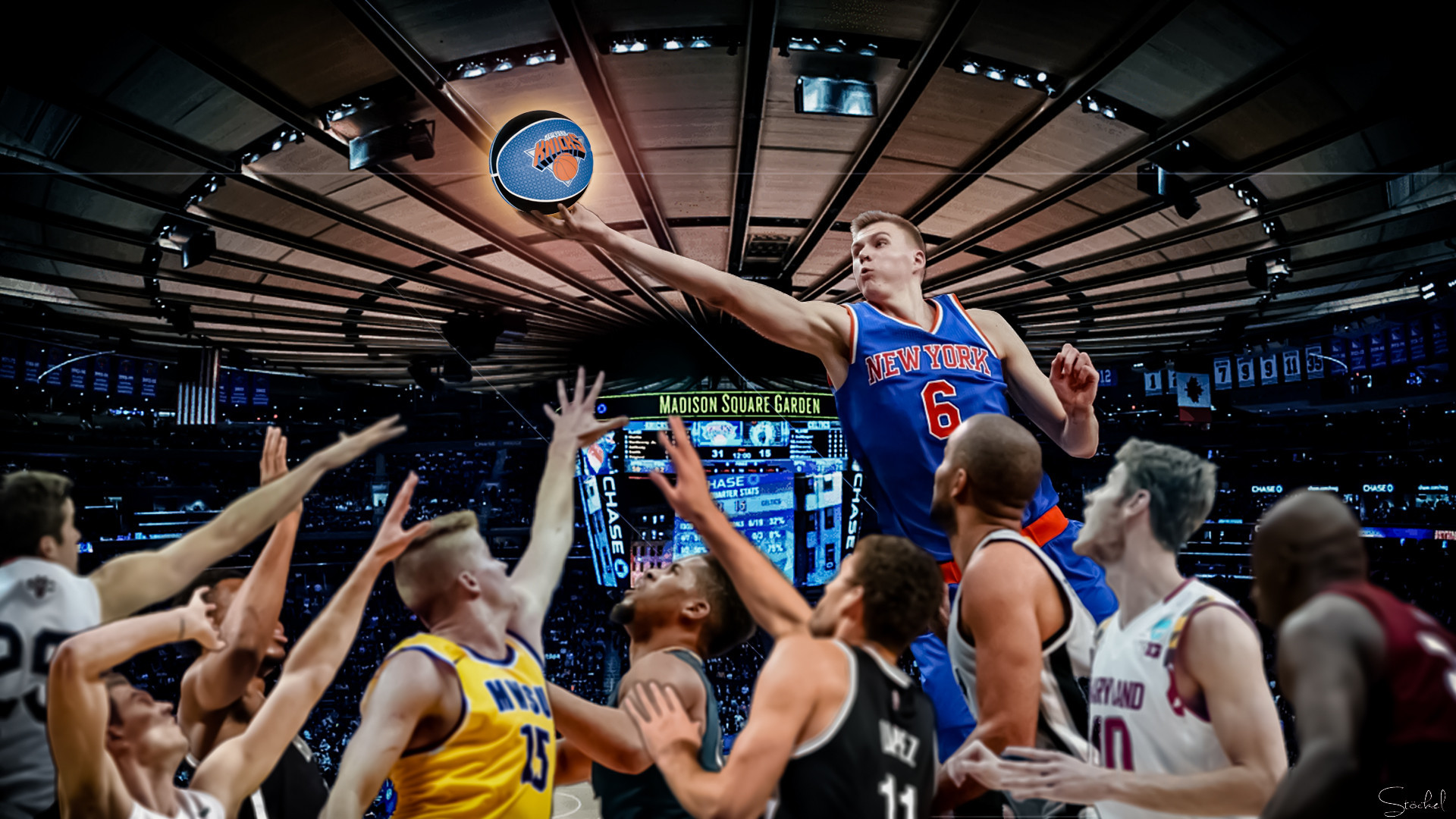 Kristaps porzingis knicks wallpaper 83 images 1920x1080 knicks wallpaper lying on hospital bed waiting for surgery and decided to cheer voltagebd Image collections