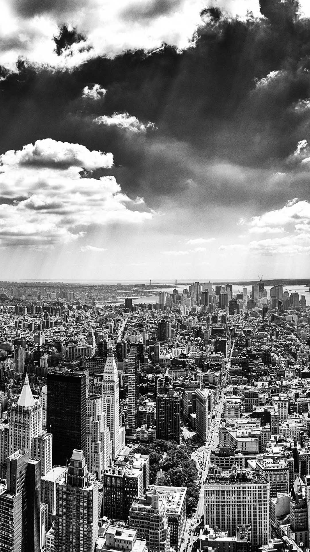 1920x1080 skyline new york city black and white taxi wallpaper hd 8218 wallpaper