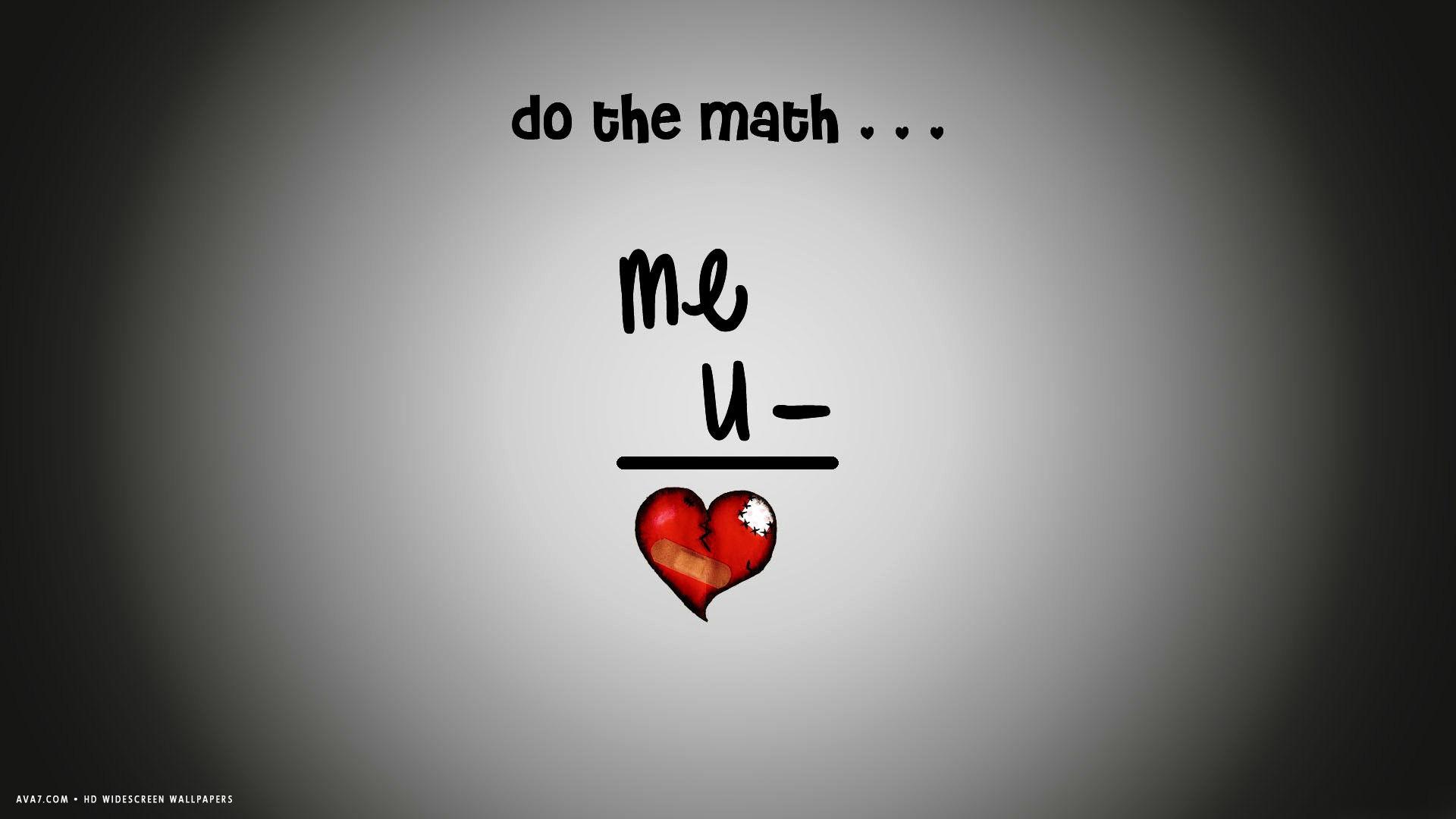 1920x1080 broken heart formula do the math me you hd widescreen wallpaper
