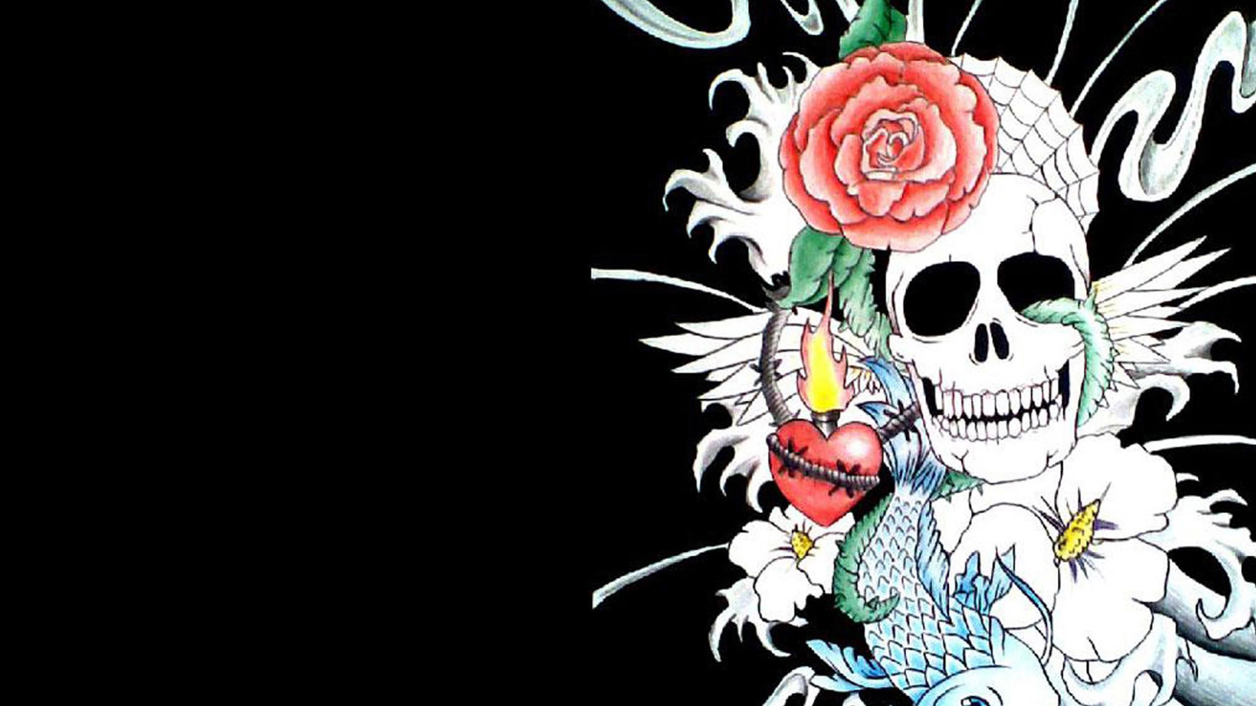Skulls wallpaper hd 65 images - Sugar skull background ...
