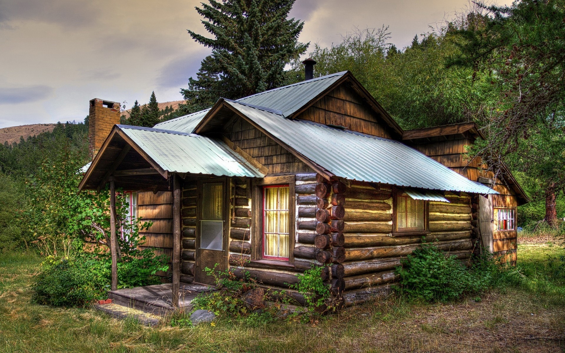 Rustic log cabin wallpaper 56 images for Rustic log homes