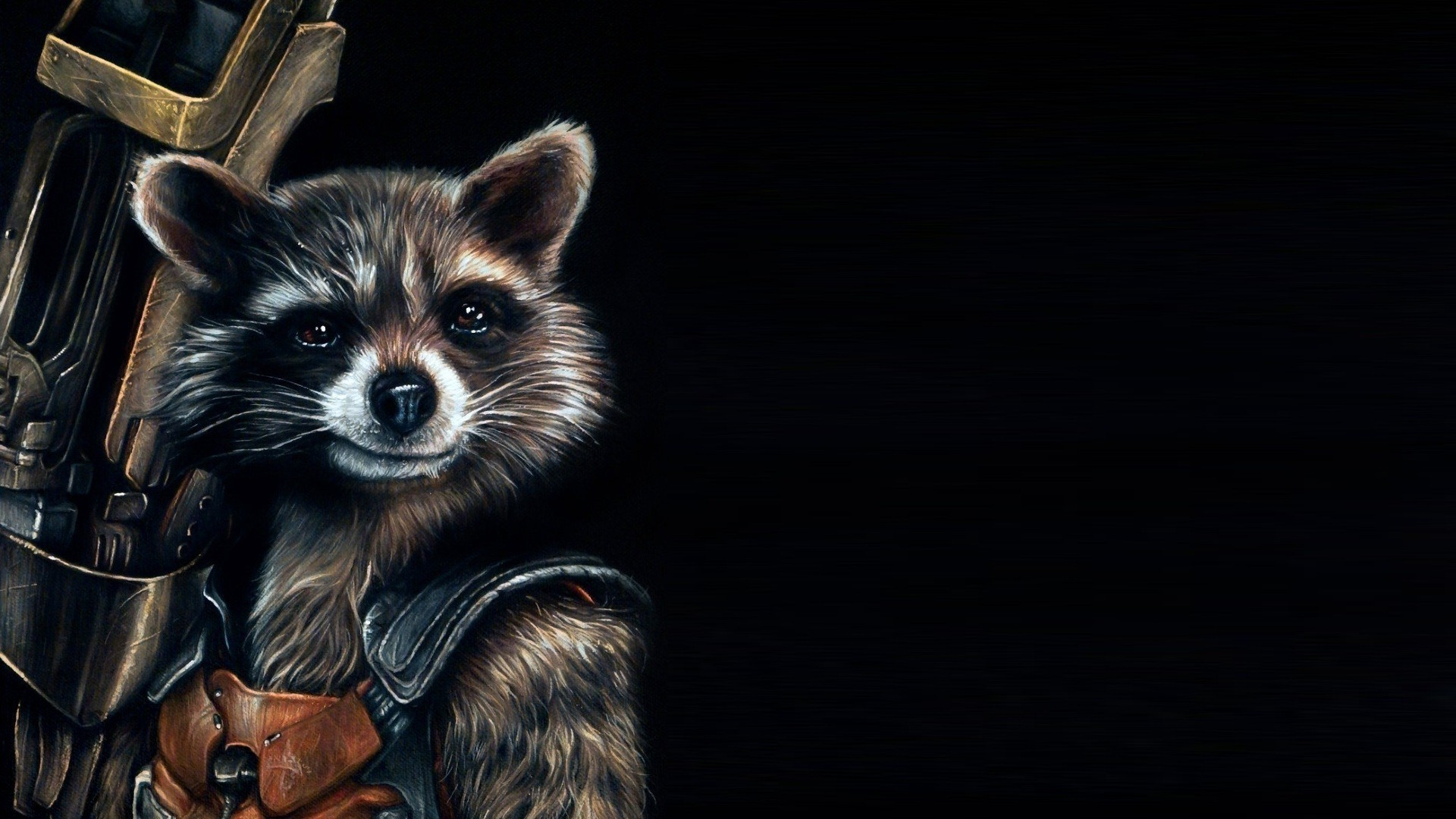 1920x1080 Guardians Of The Galaxy, Comics, Movies, Rocket Raccoon, Artwork,  Fictional, Black Background Wallpapers HD / Desktop and Mobile Backgrounds