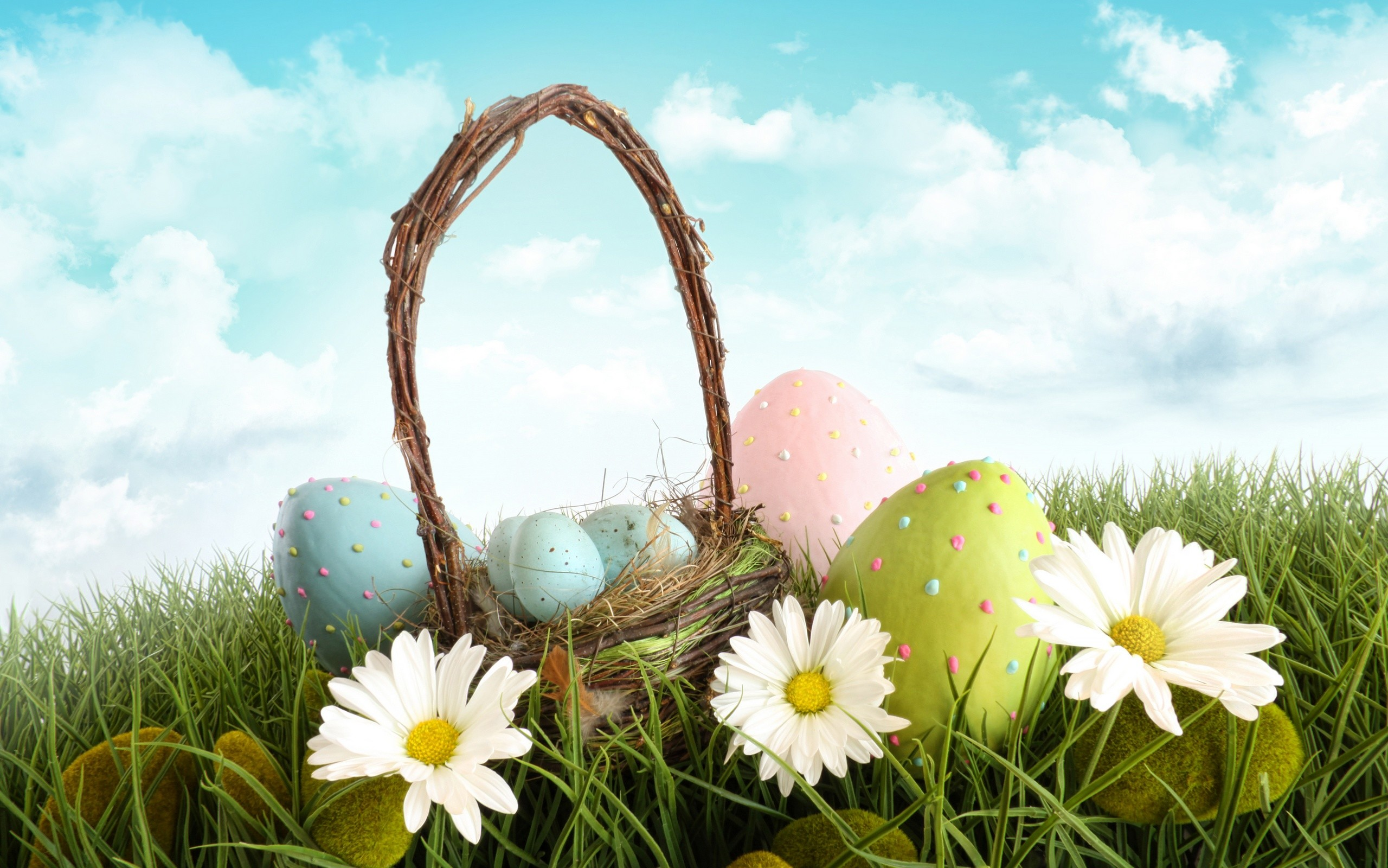2560x1600 Happy Easter wallpaper free