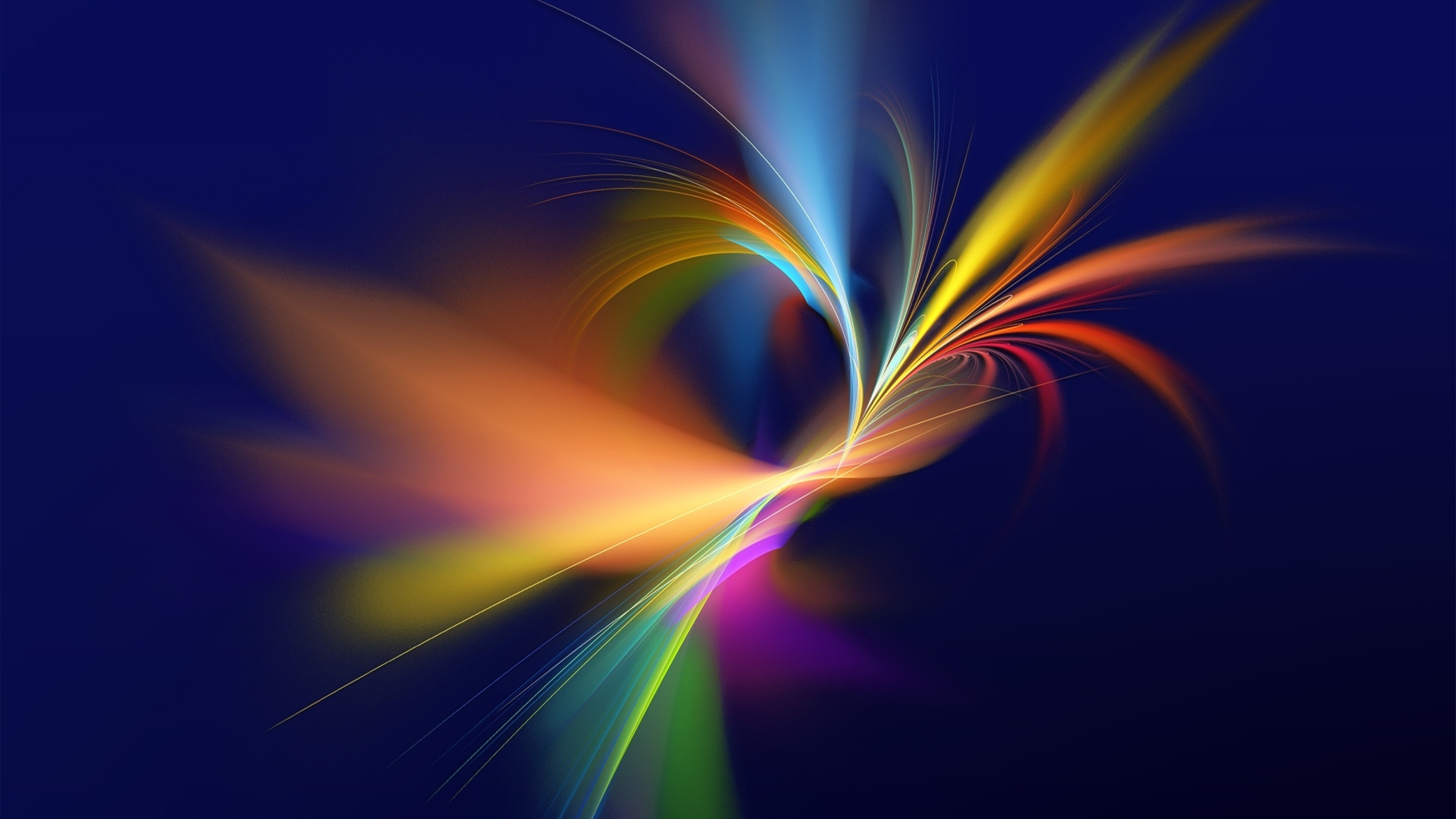 3840x2160  Wallpaper abstract, paint, colorful, smoke