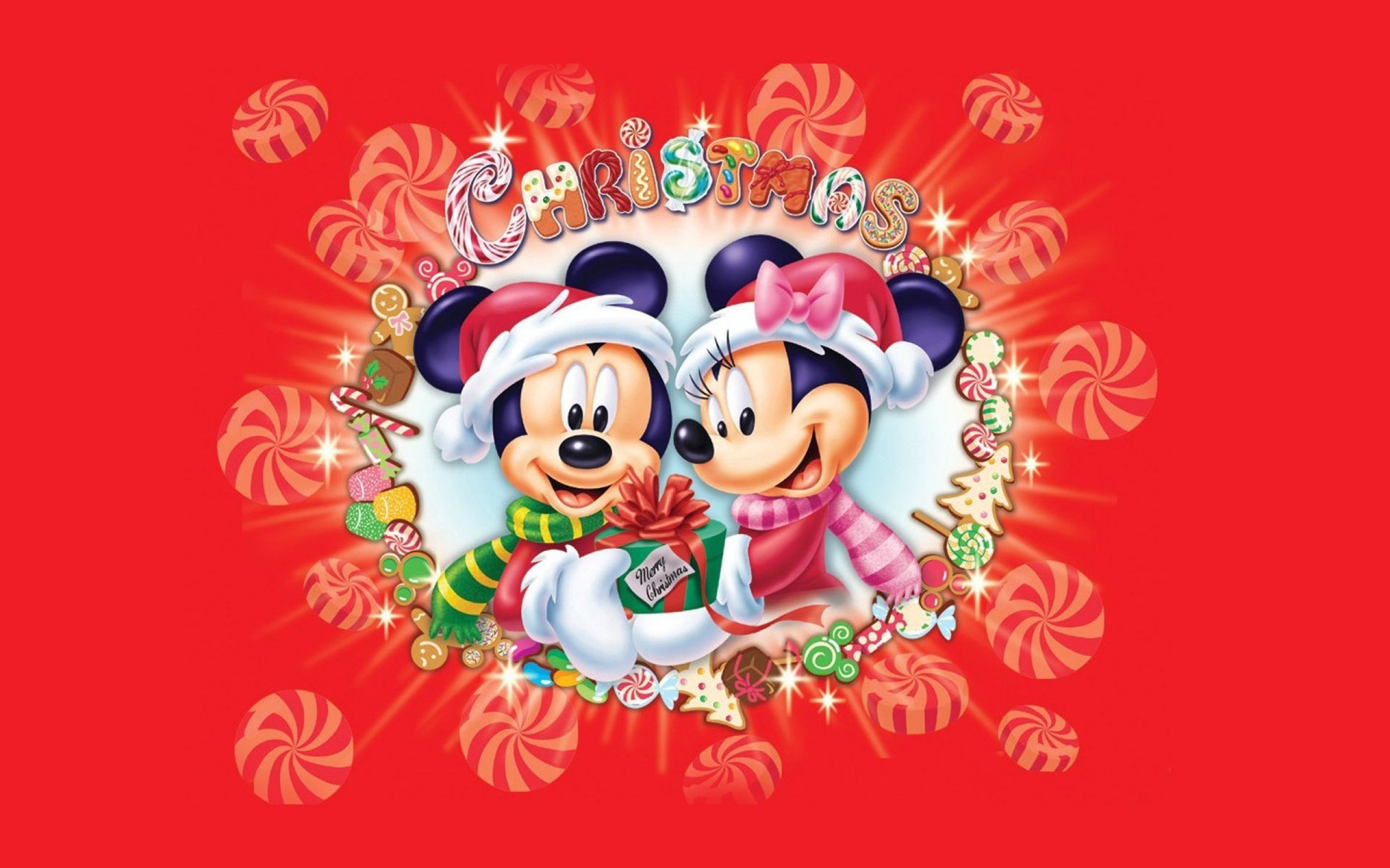 2560x1600 Xmas Stuff For > Mickey Mouse Christmas Wallpaper