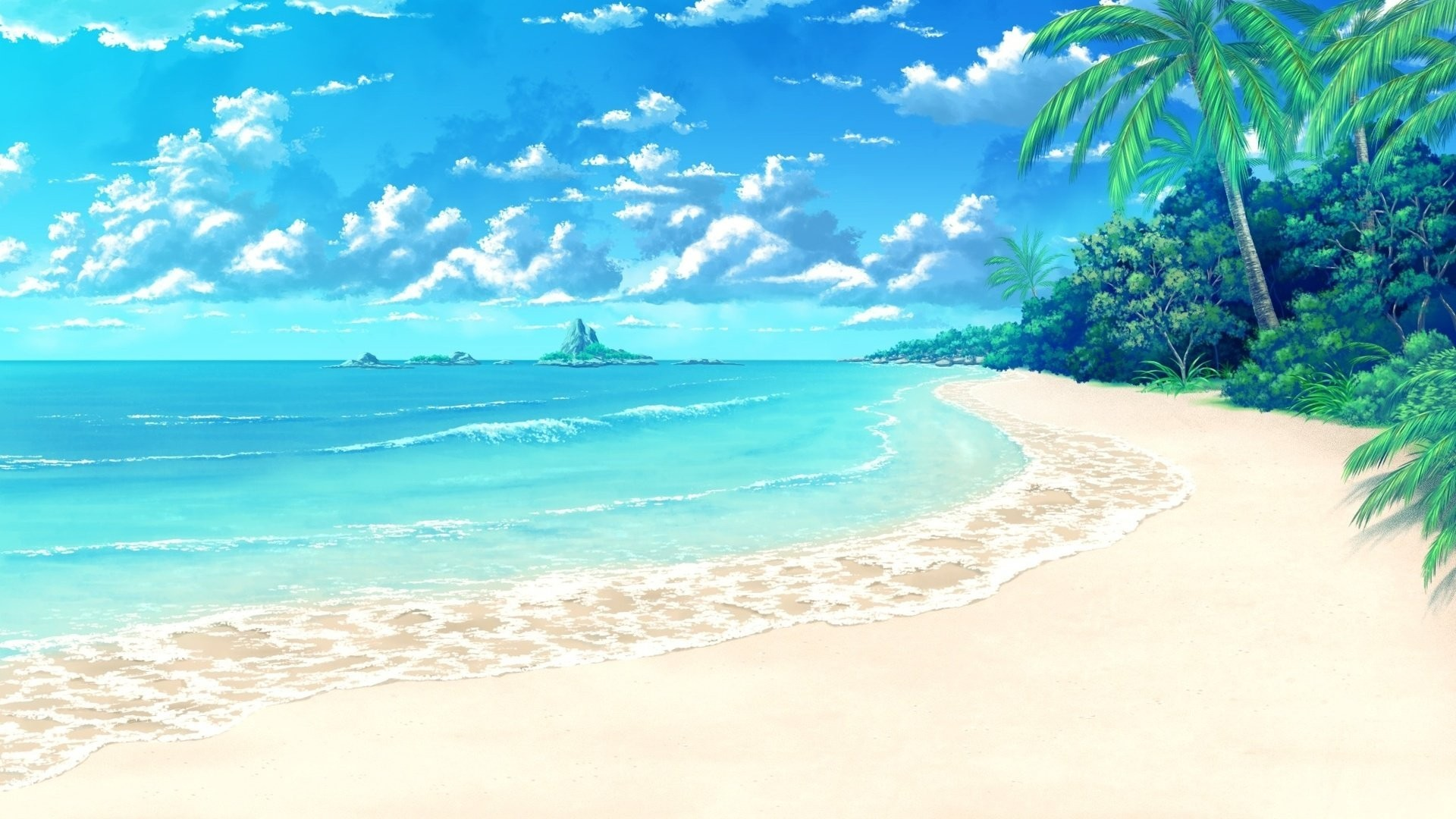 3d Beach Wallpaper 52 Images 2000x1333 Blue Hd Wall Decal