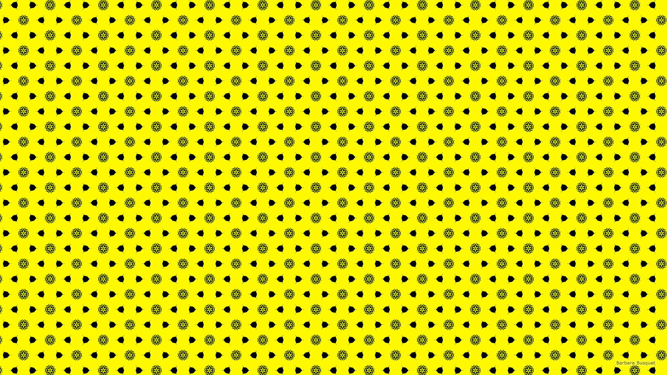 2560x1440 Yellow wallpaper with black shapes