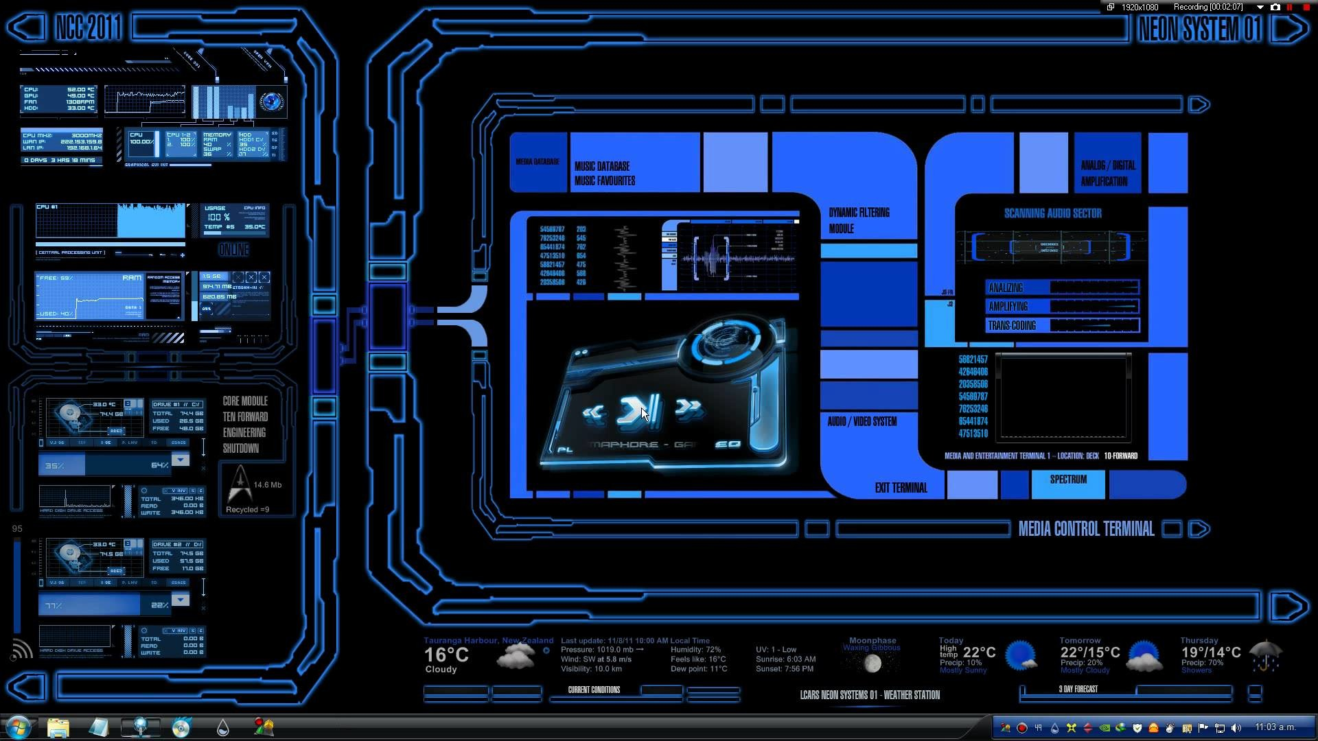 Cool Backgrounds For Computers Hd 1920x1080 Star Trek Lcars Wallpa...