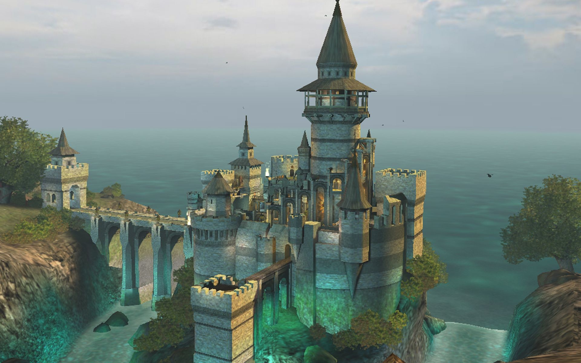 1920x1200 A image of a fantasy castle for your use no restrictions would be nice to  see what you do with it though. Original items by planesoft bought here  [link] ...