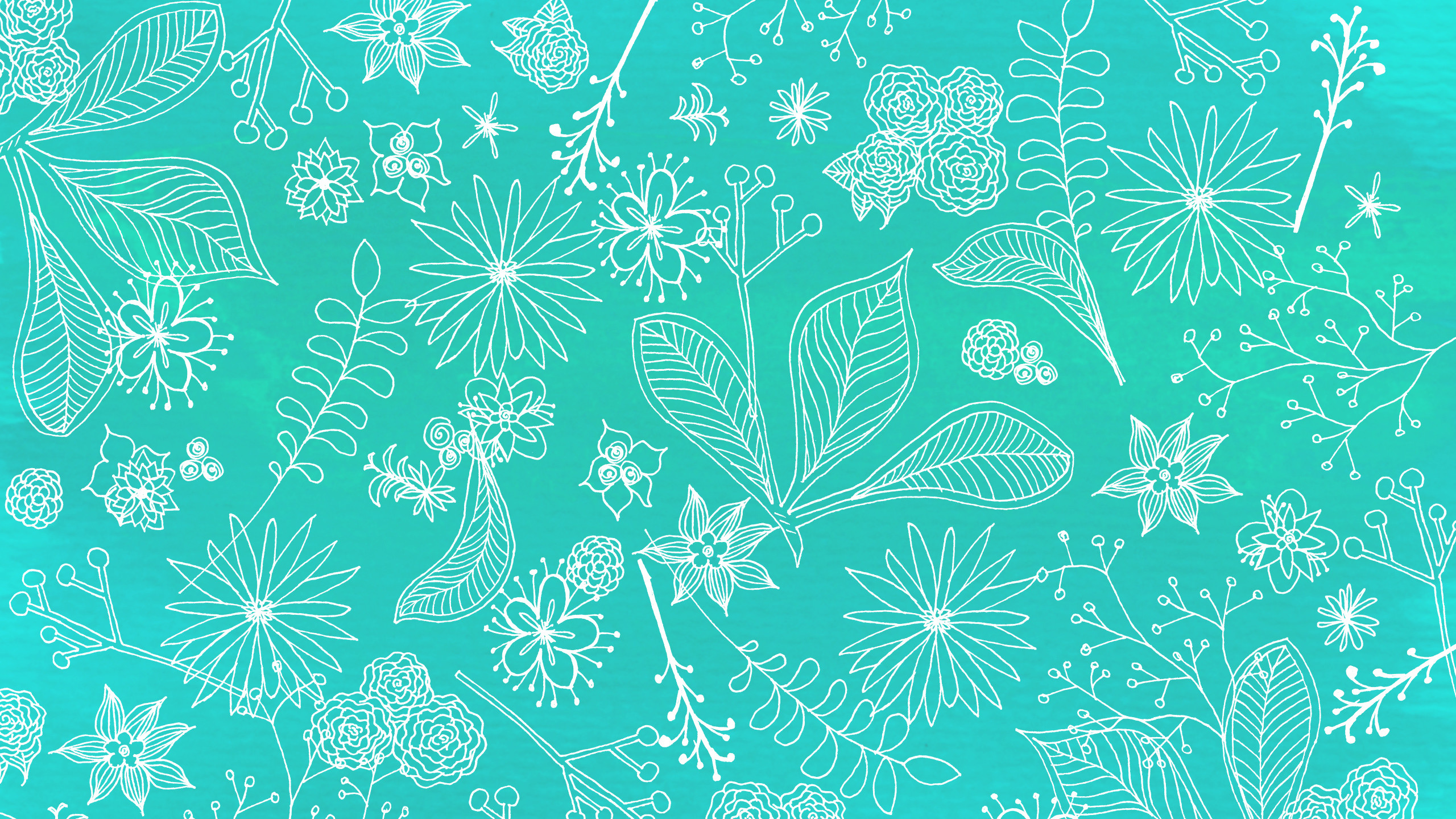 2560x1440 Floral Wallpaper — Candy Niemeyer this Teal Zebra Desktop Wallpaper is easy  Just save the #5931 ...