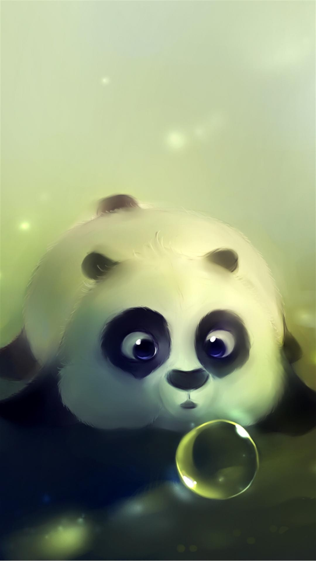 1080x1920 Cute Panda Bubble iPhone 6 Plus HD Wallpaper