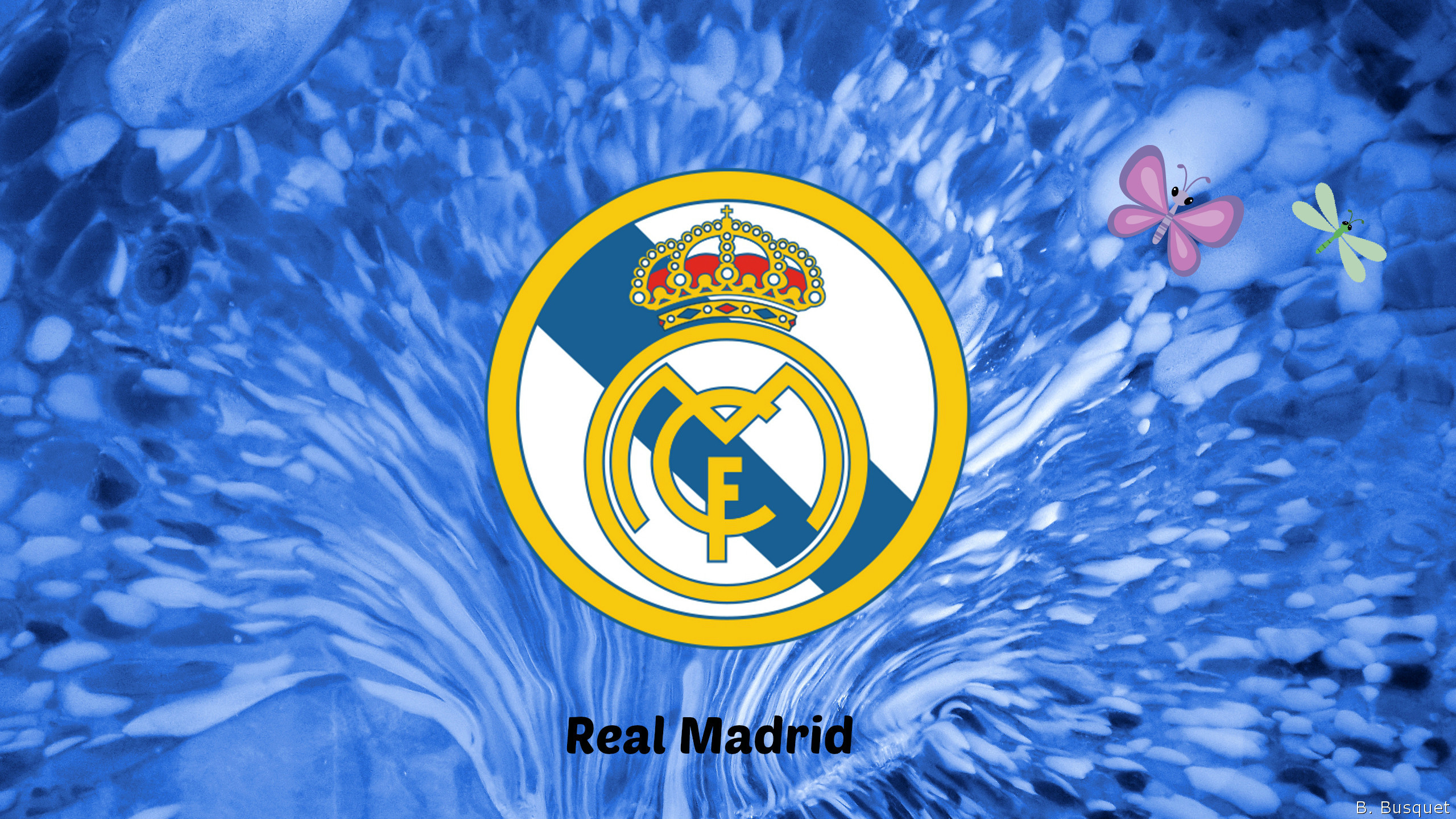 2560x1440 ... Real Madrid Logo Wallpapers - Wallpaper Cave ...