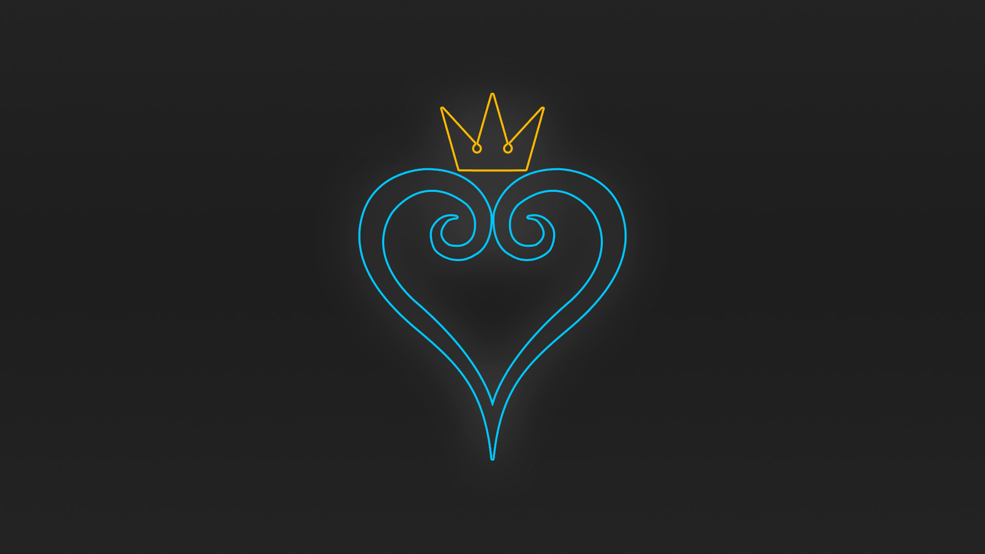 1920x1080 Kingdom Hearts Heart/Crown Wallpaper