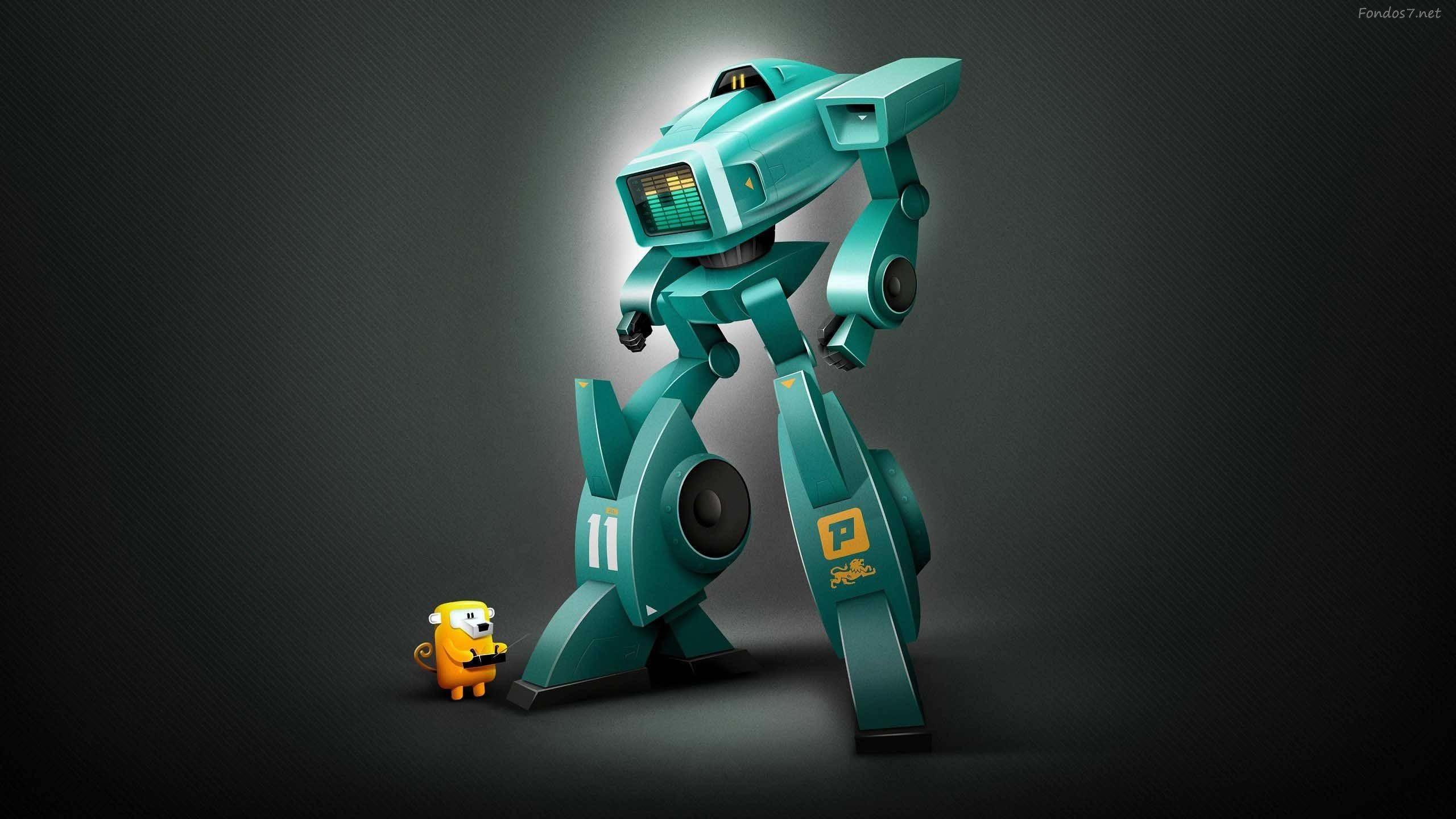 Cute robot wallpaper 71 images - Robot wallpaper 3d ...