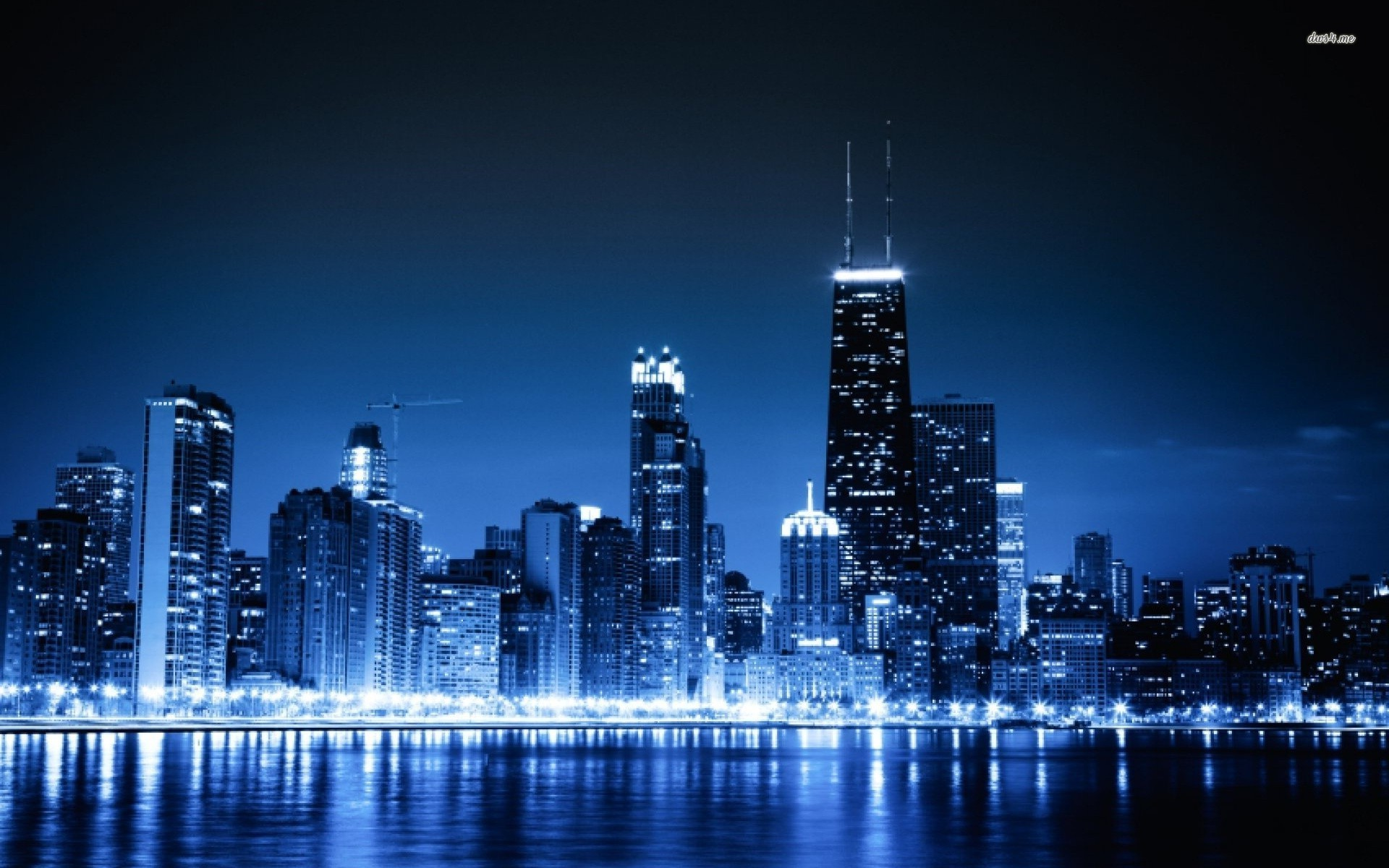 1920x1200 Glowing Chicago Skyline Wallpaper Wall Mural SelfAdhesive