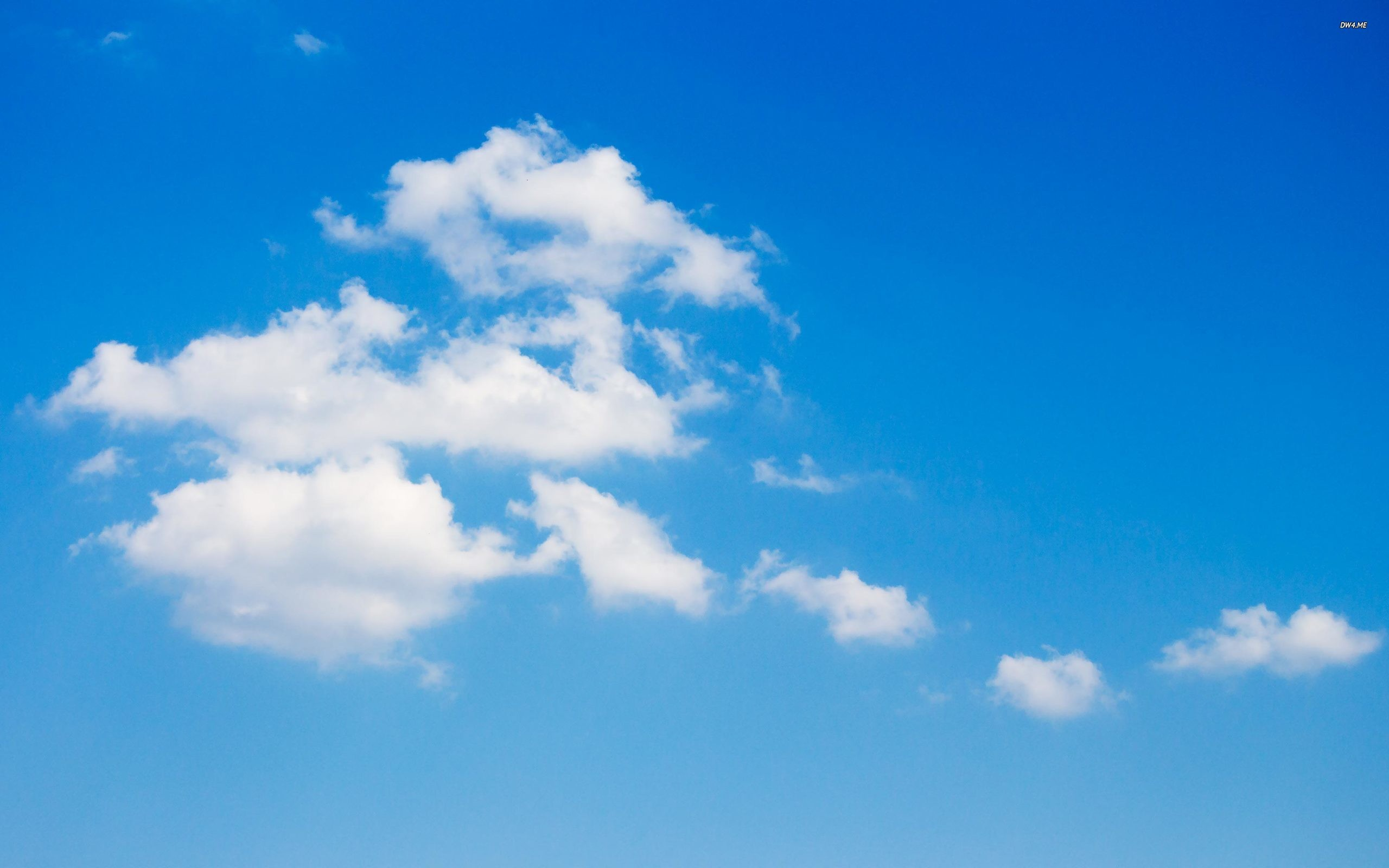 2560x1600 White clouds on the blue sky wallpaper - Nature wallpapers .