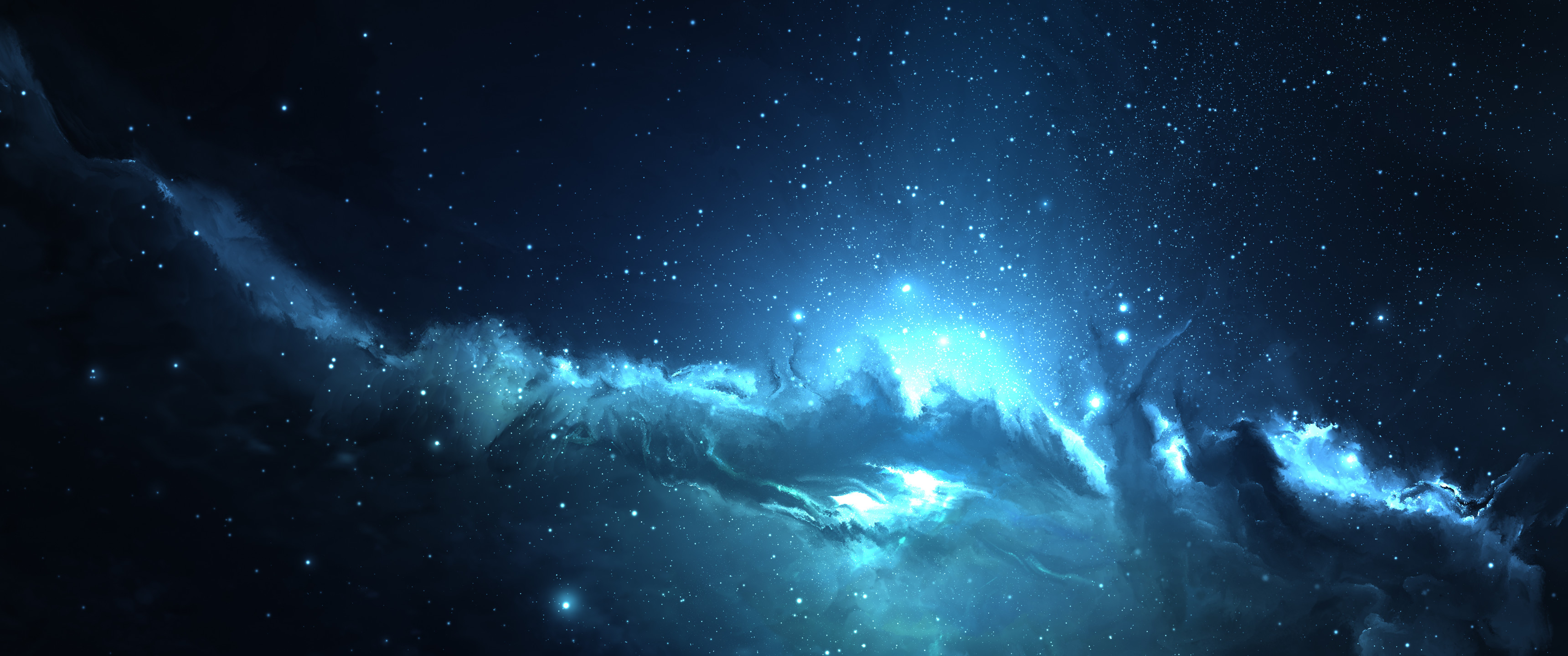 3440x1440 ... Astrophotography, Space, Blue Wallpapers HD Desktop .