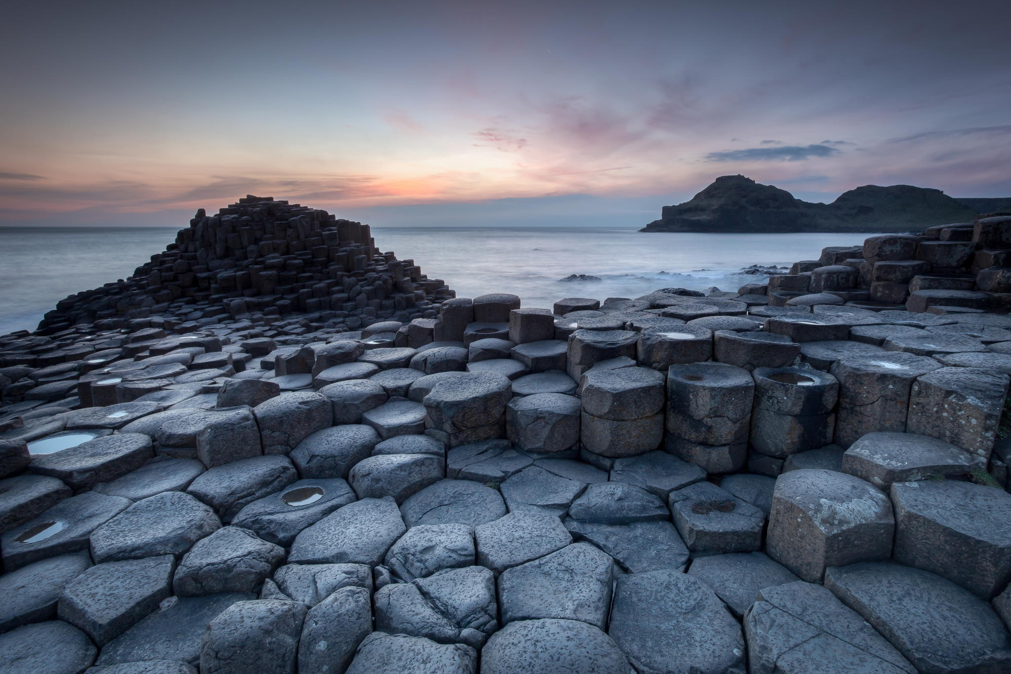 2048x1366 sea, Beach, Sunrise, Landscape, Nature, Giants Causeway, Ireland Wallpapers  HD / Desktop and Mobile Backgrounds