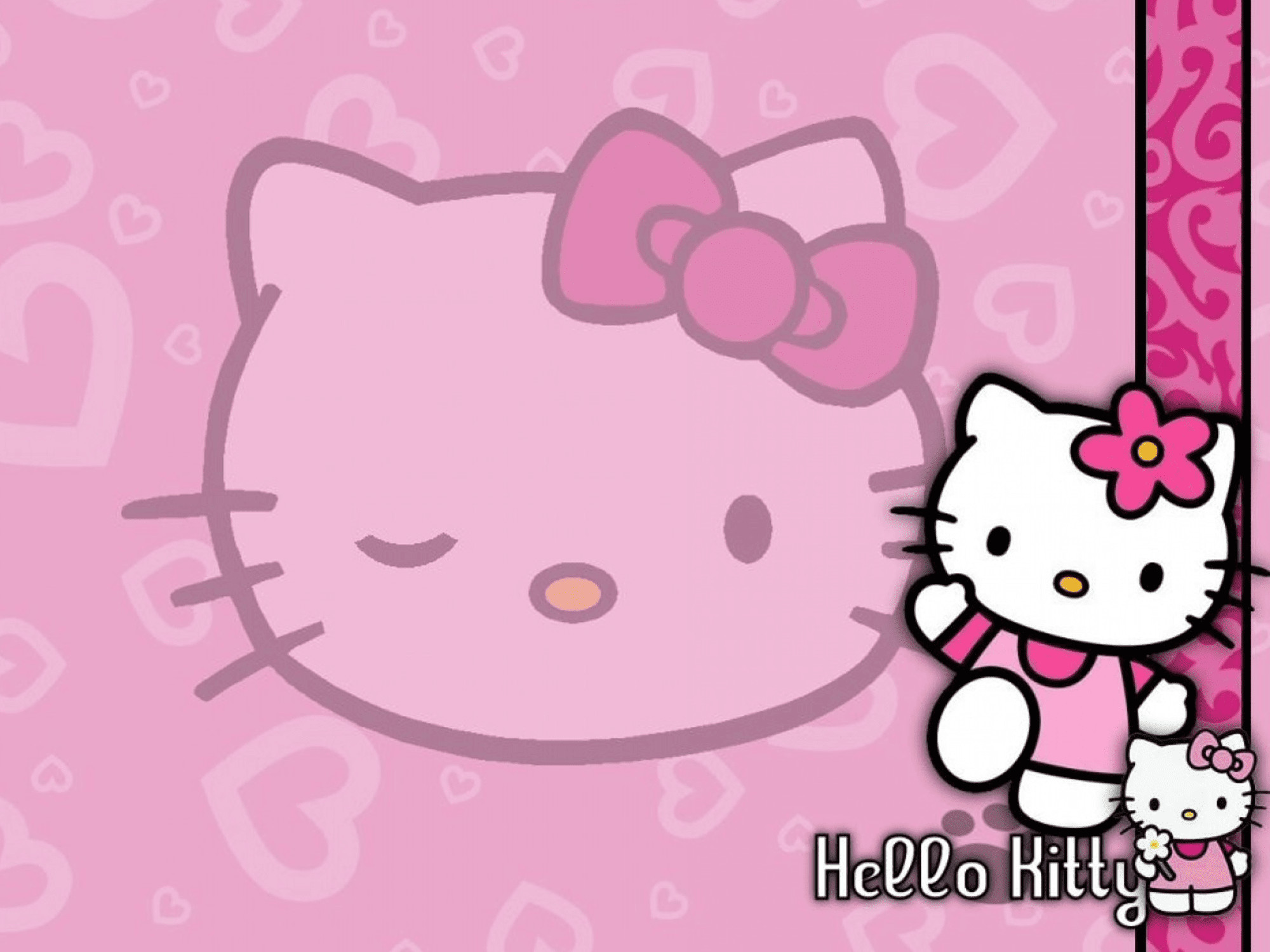 2000x1500 Pretty In Pink Hello Kitty Wallpaper