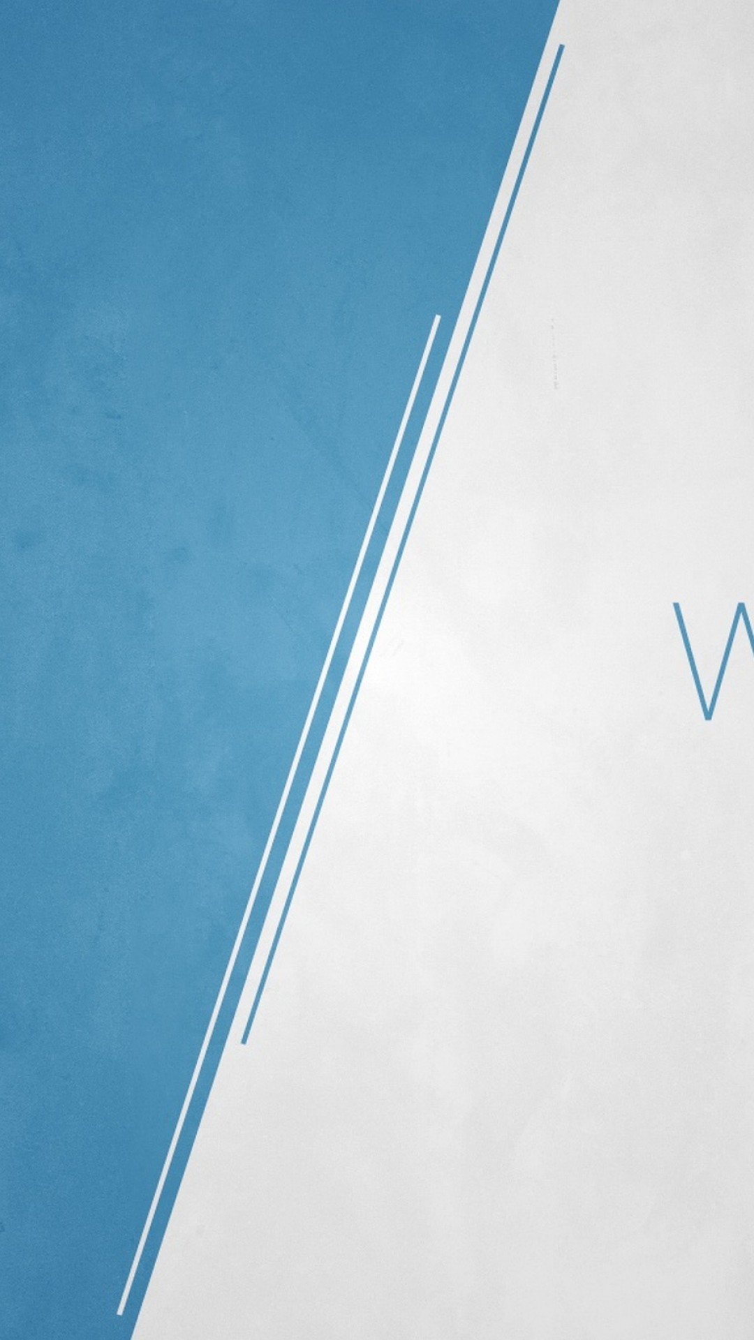 1080x1920 Preview wallpaper white, blue, lettering