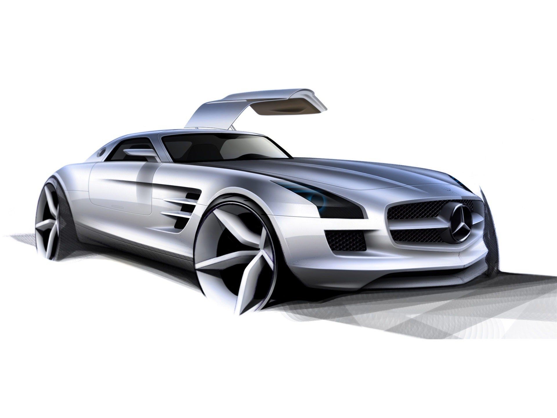 1920x1440 Mercedes Benz SLS AMG Wallpaper Concept Cars Wallpapers