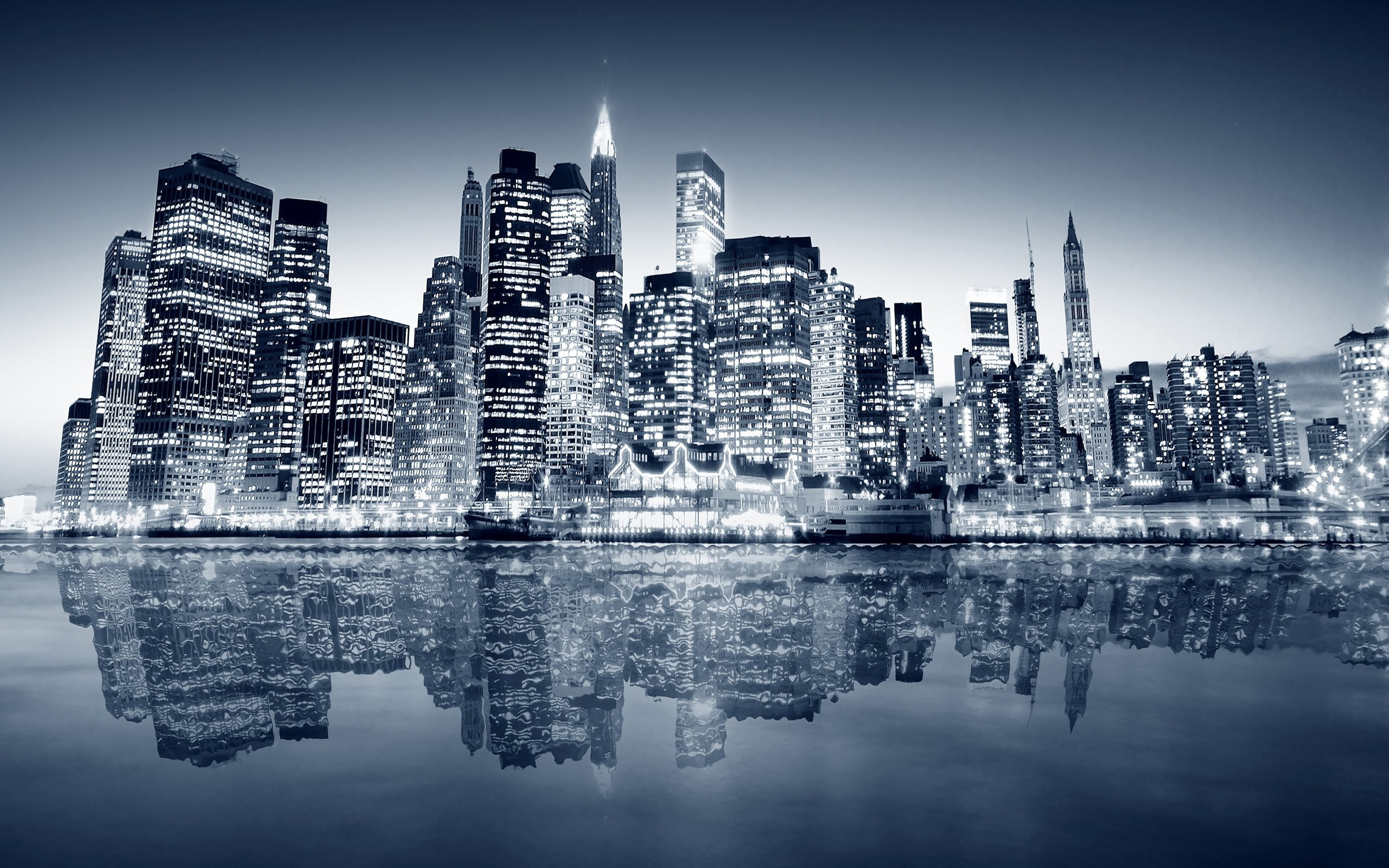 2560x1600 Black And White New York Skyline 9 Wallpaper HD hd backgrounds hd  screensavers hd wallpapers 1080p