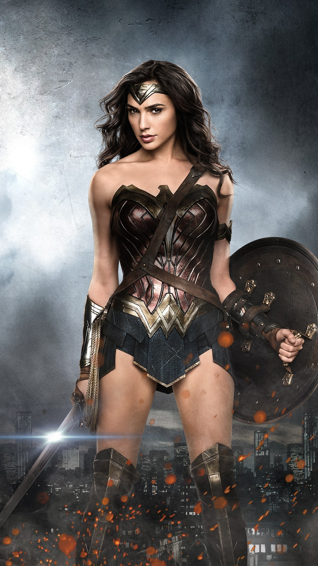 1080x1920 Wonder Woman Gal Gadot iPhone Wallpaper resolution