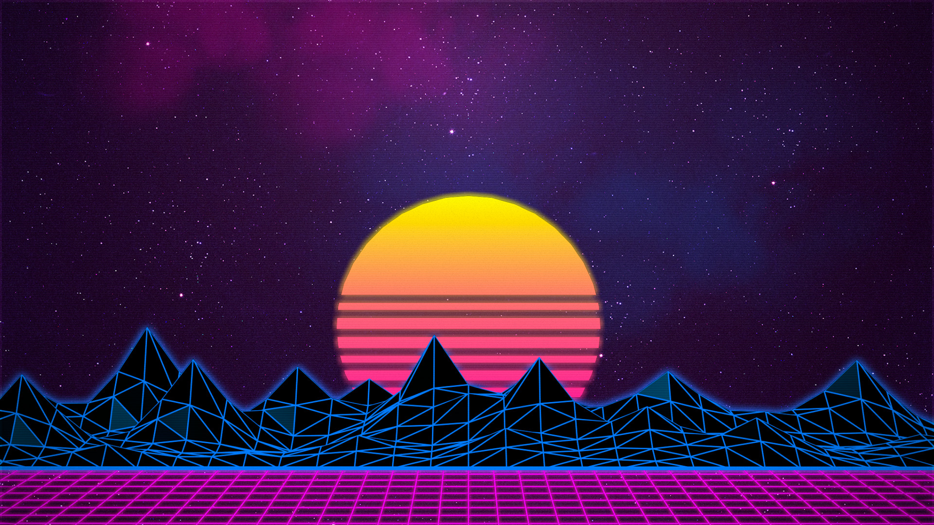 1920x1080 ... new retro wave neon synthwave wallpaper no 383903 ...