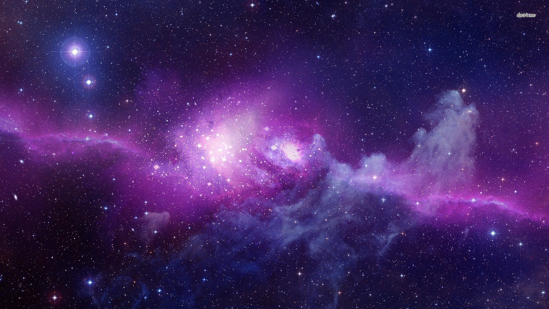 1920x1080 Purple galaxy