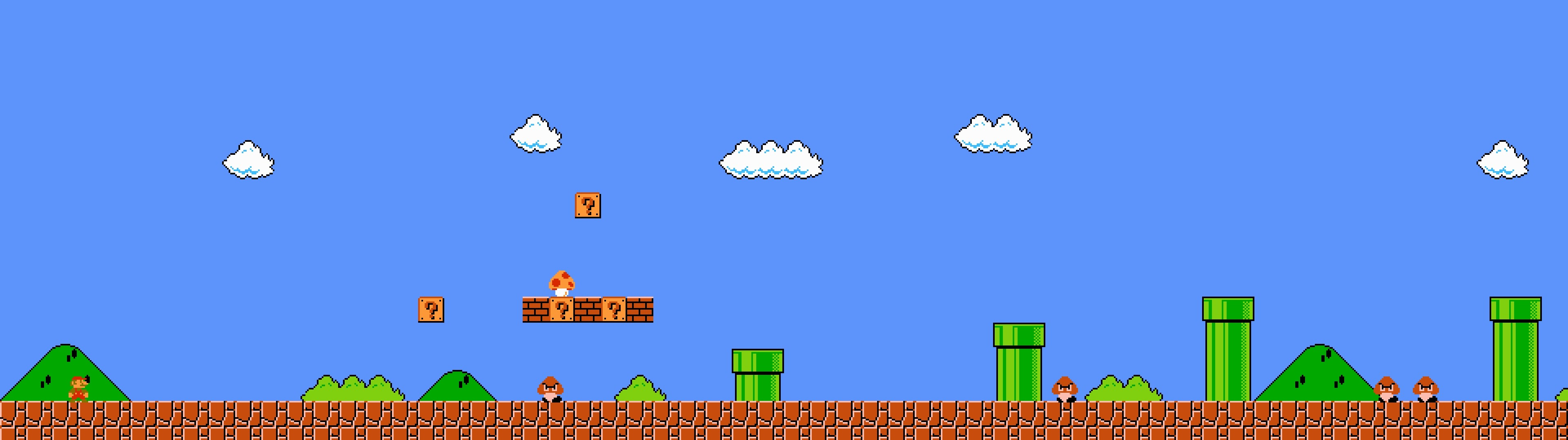 3840x1080 Dual-screen wallpapers, assorted retro games