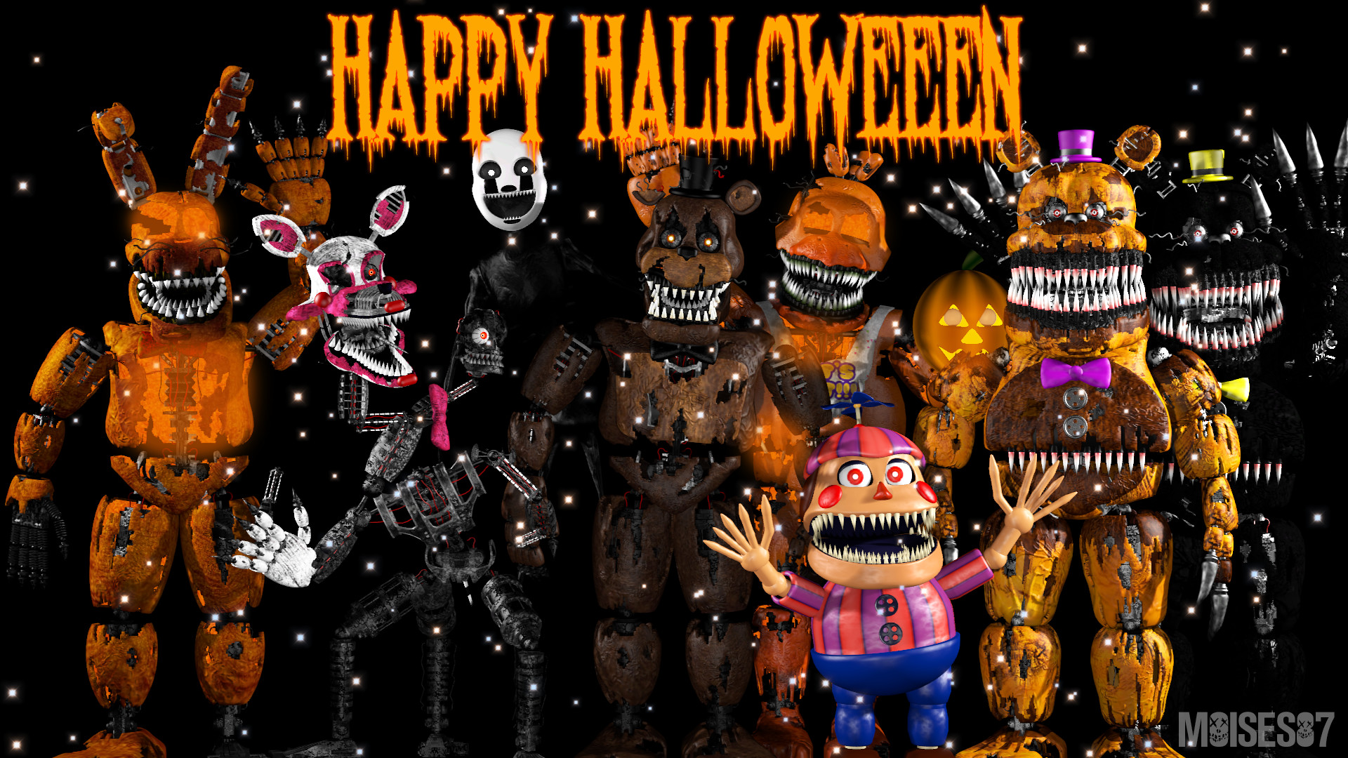1920x1080 Happy Halloween [FNaF][Poster 2] by Moises87 on DeviantArt