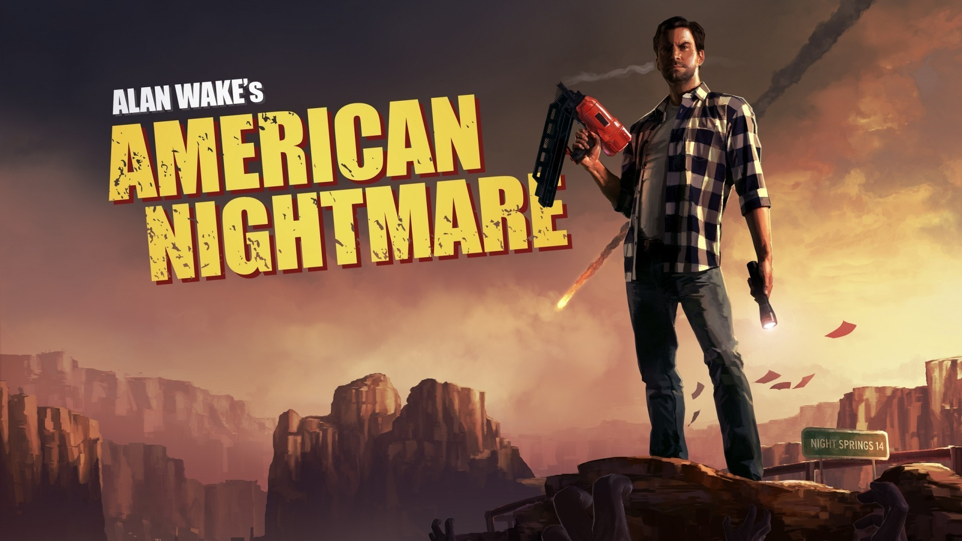 1920x1080 Video games terror alan wake american nightmare wallpaper