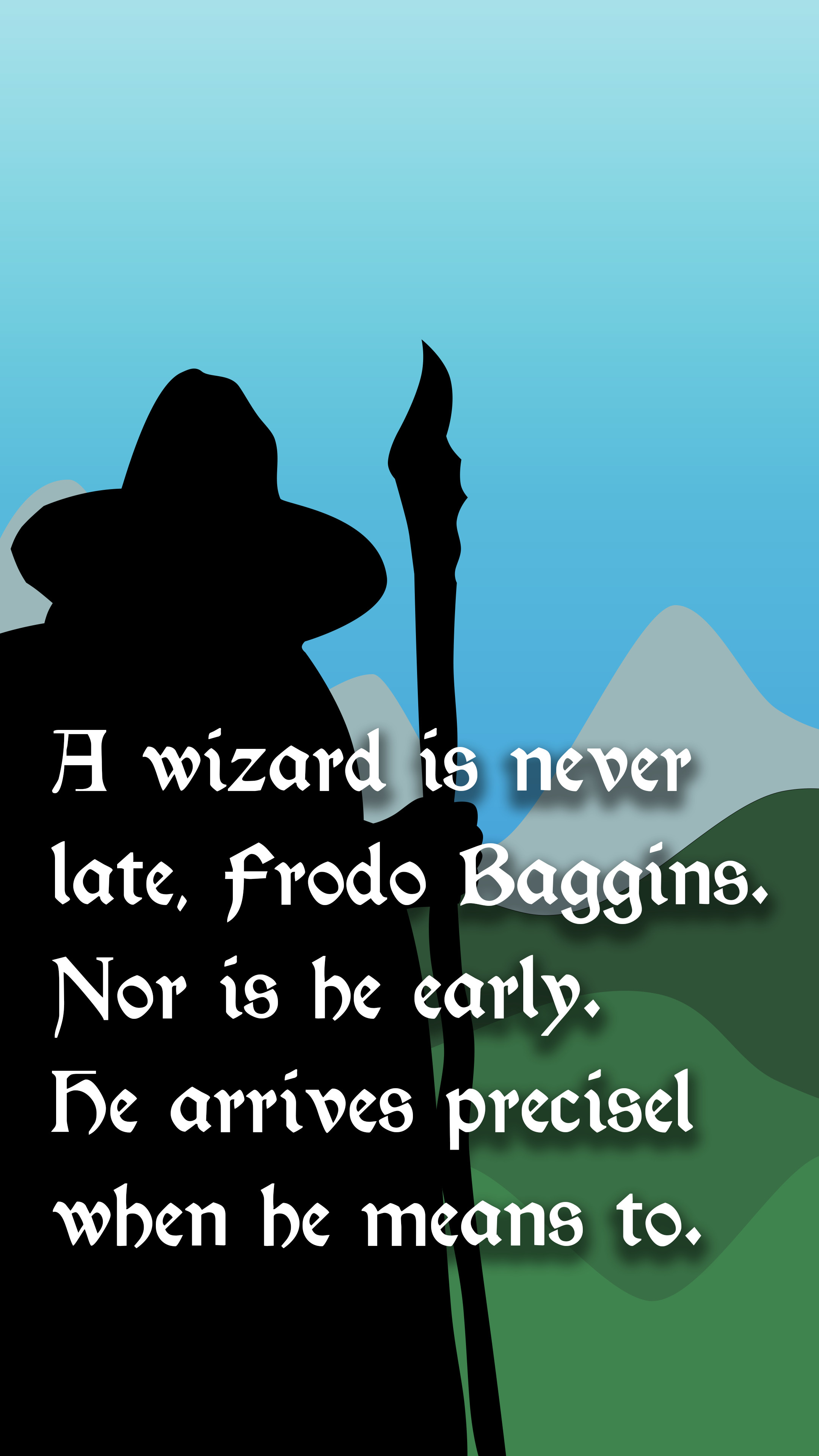 2160x3840 Phone wallpaper Gandalf quote ...
