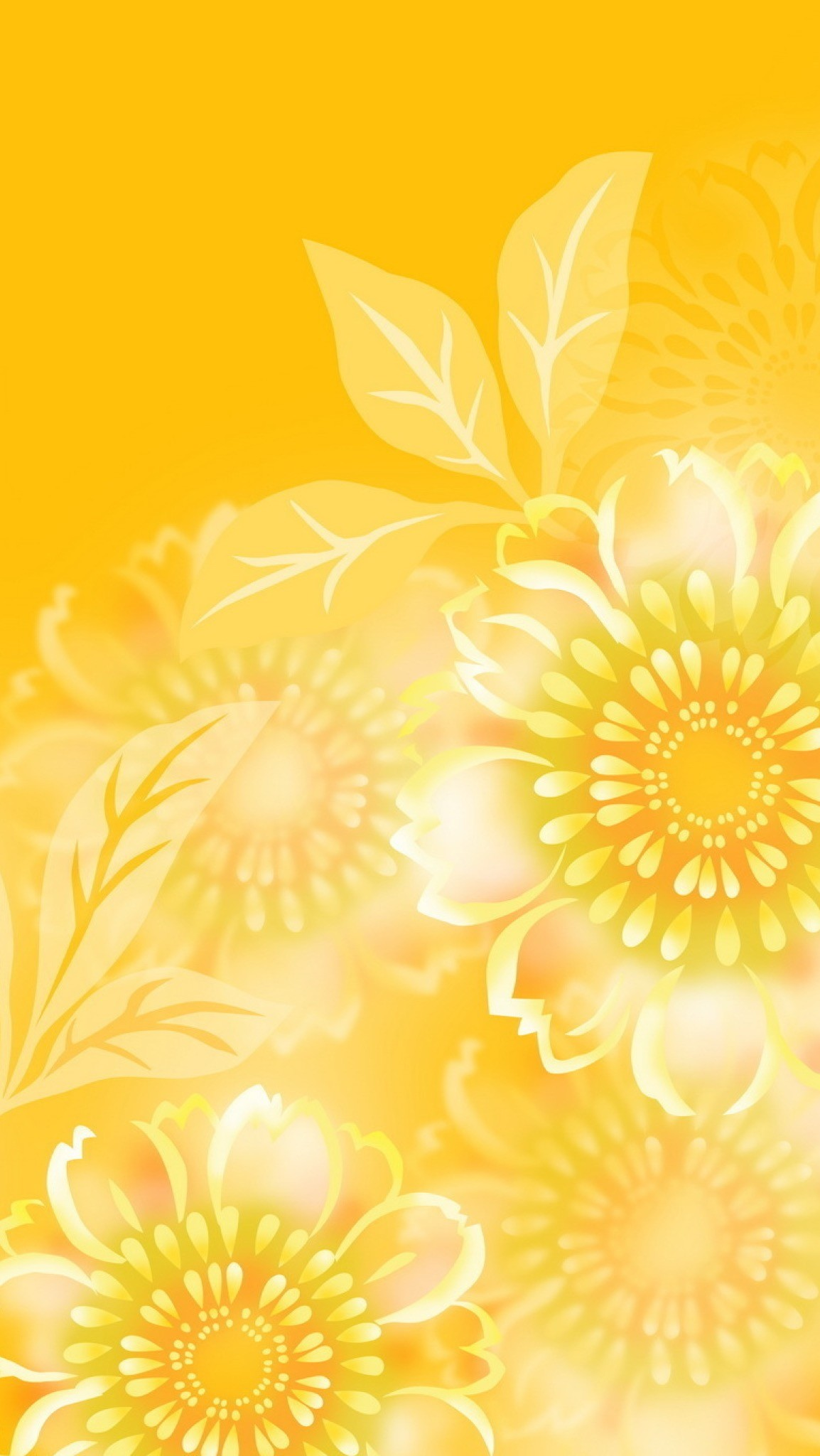 1154x2048 Обои iPhone wallpapers yellow summer