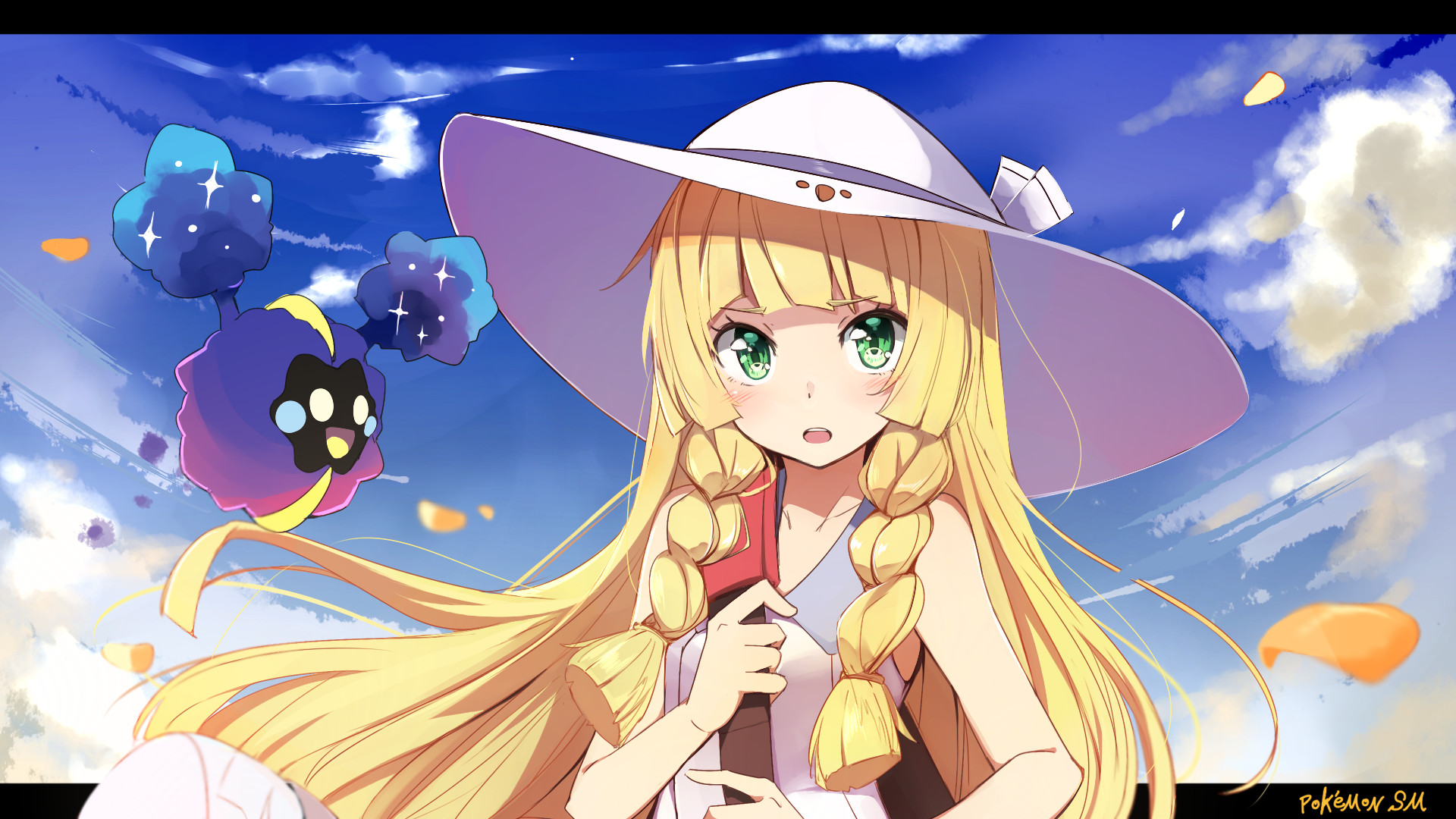 1920x1080 Video Game Pokémon Sun And Moon Lillie (Pokemon) Cosmog (Pokémon) Wallpaper