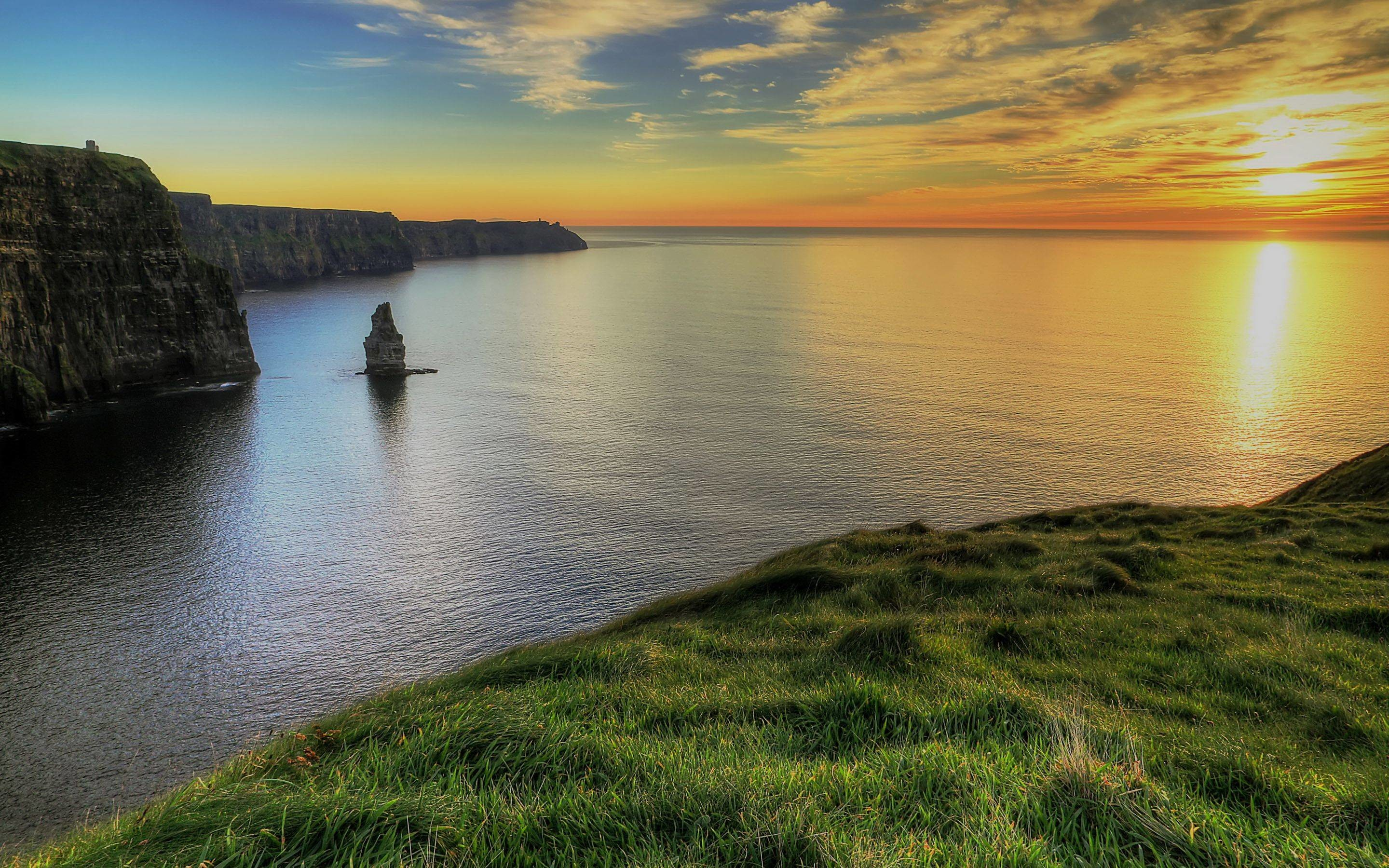 2880x1800 Cliffs-Of-Moher-Ireland Ireland HD free wallpapers backgrounds .