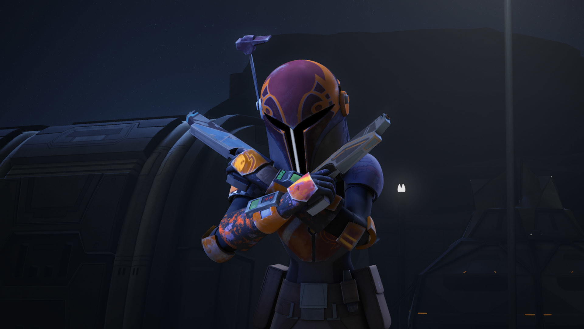 1920x1080 As far as Sabine's backstory… we got some. We got the mention of House  Vizsla and learned her mother was a member of Death Watch. That's more or  less it.