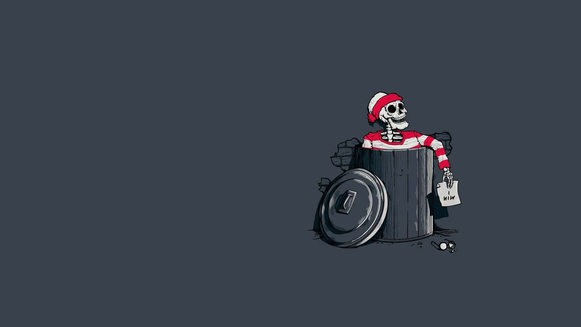 1920x1080 simple, Waldo, Humor, Skeleton Wallpapers HD / Desktop and Mobile  Backgrounds