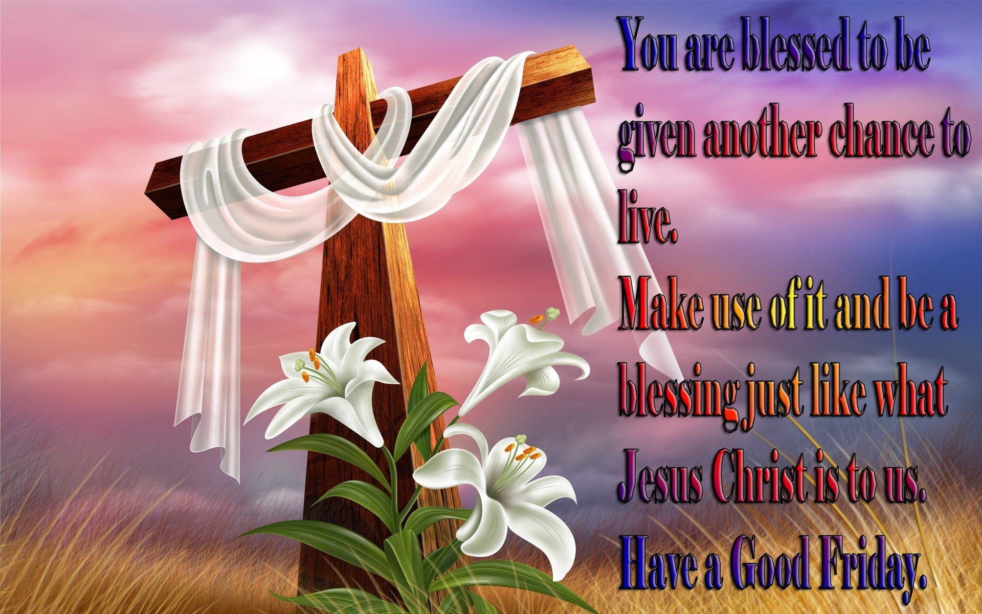 1920x1200 happy good friday greeting card wallpaper