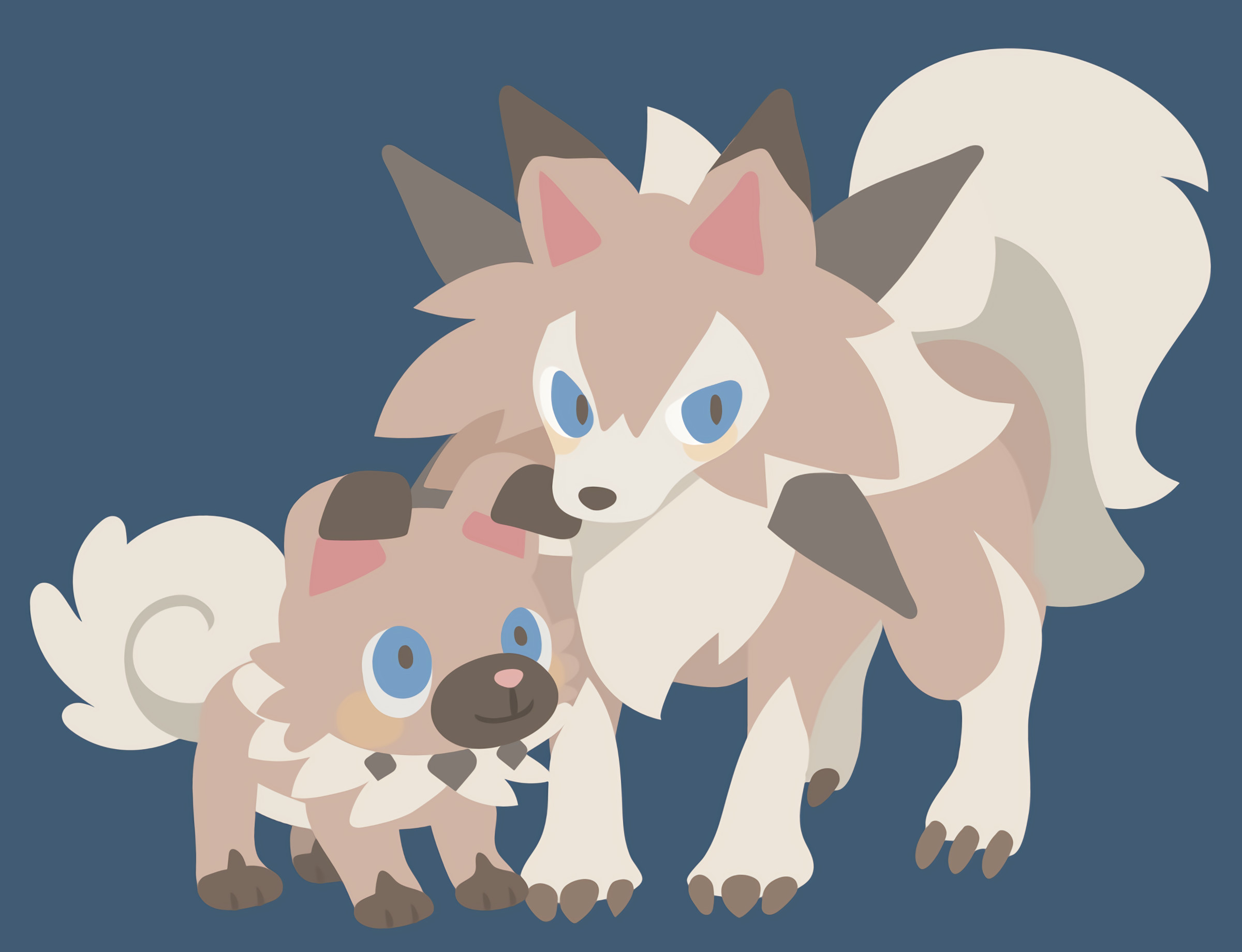 2400x1840 Pokémon Pokémon Sun And Moon Rockruff · HD Wallpaper | Background ID:740000