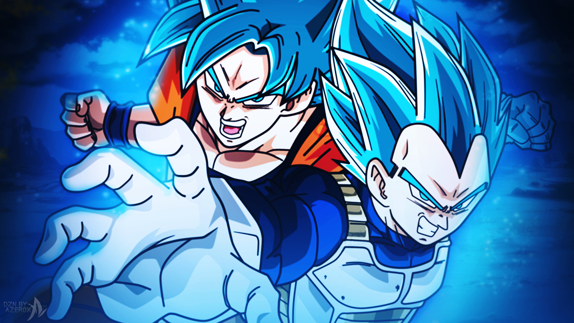 Goku And Vegeta Super Saiyan Blue Wallpaper