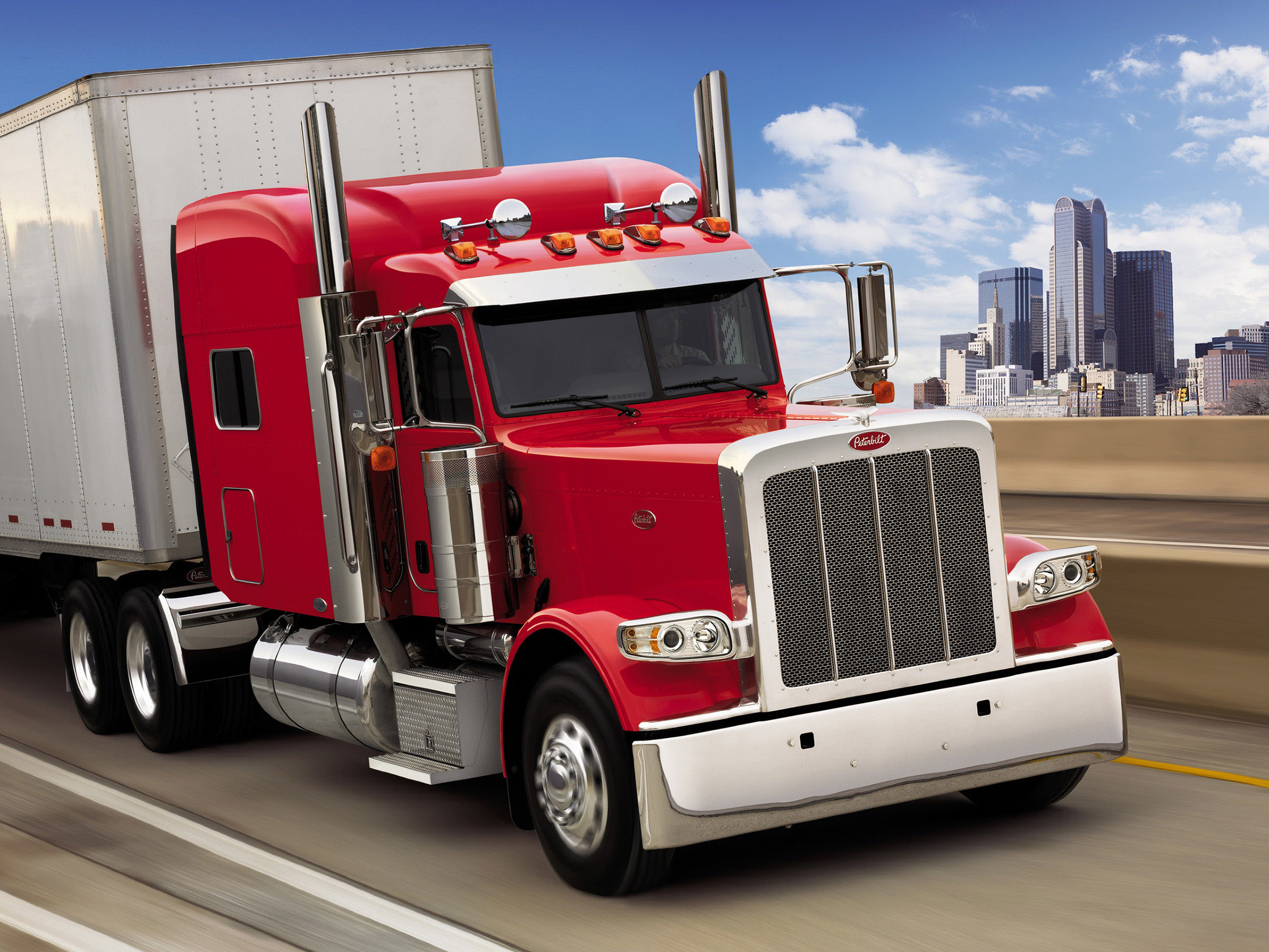 2048x1536 2007 Peterbilt 389 Semi Truck Tractor Wallpaper