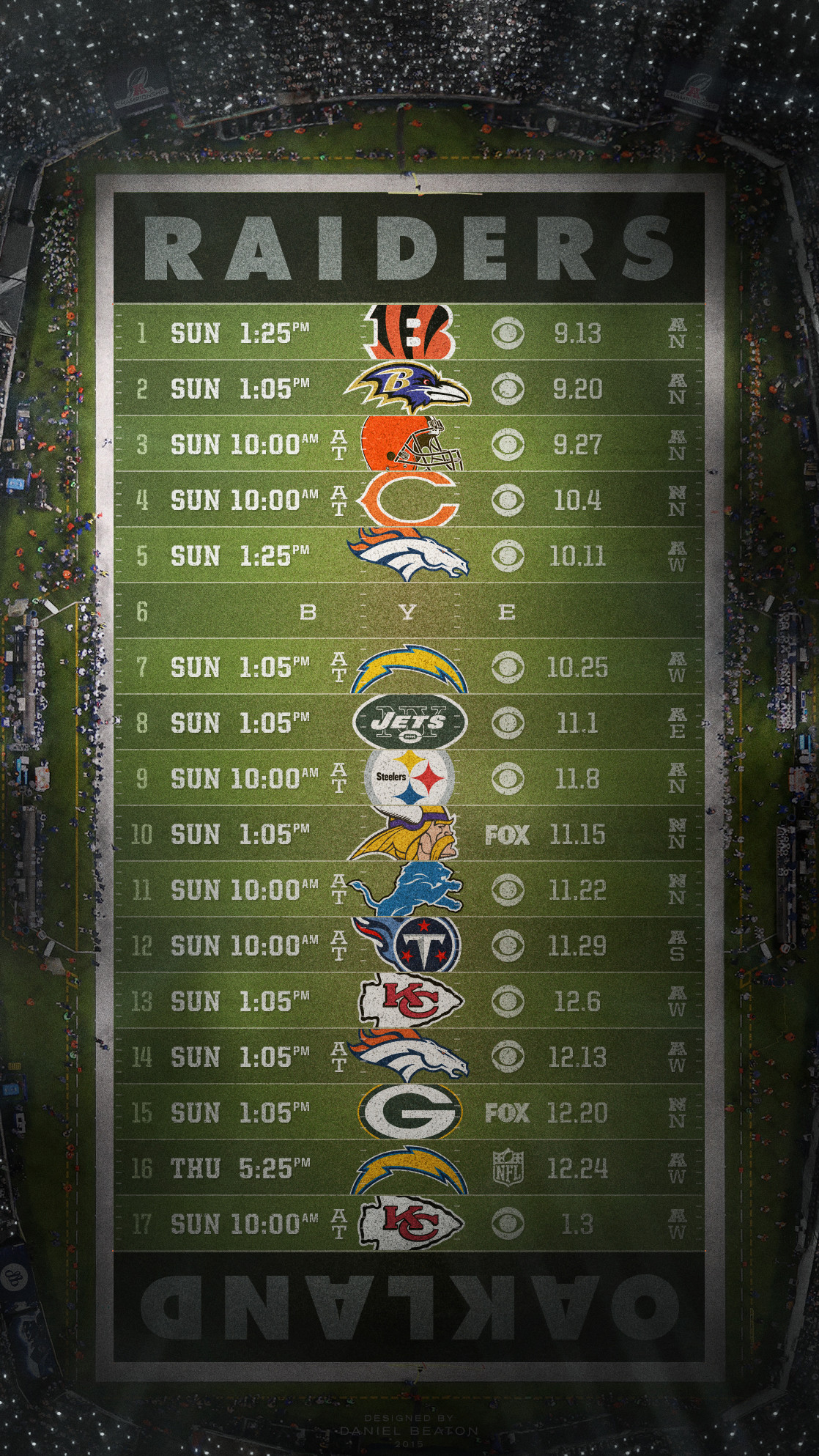 1118x1987 Raiders schedule wallpaper for Android, iOS and Desktop : oaklandraiders
