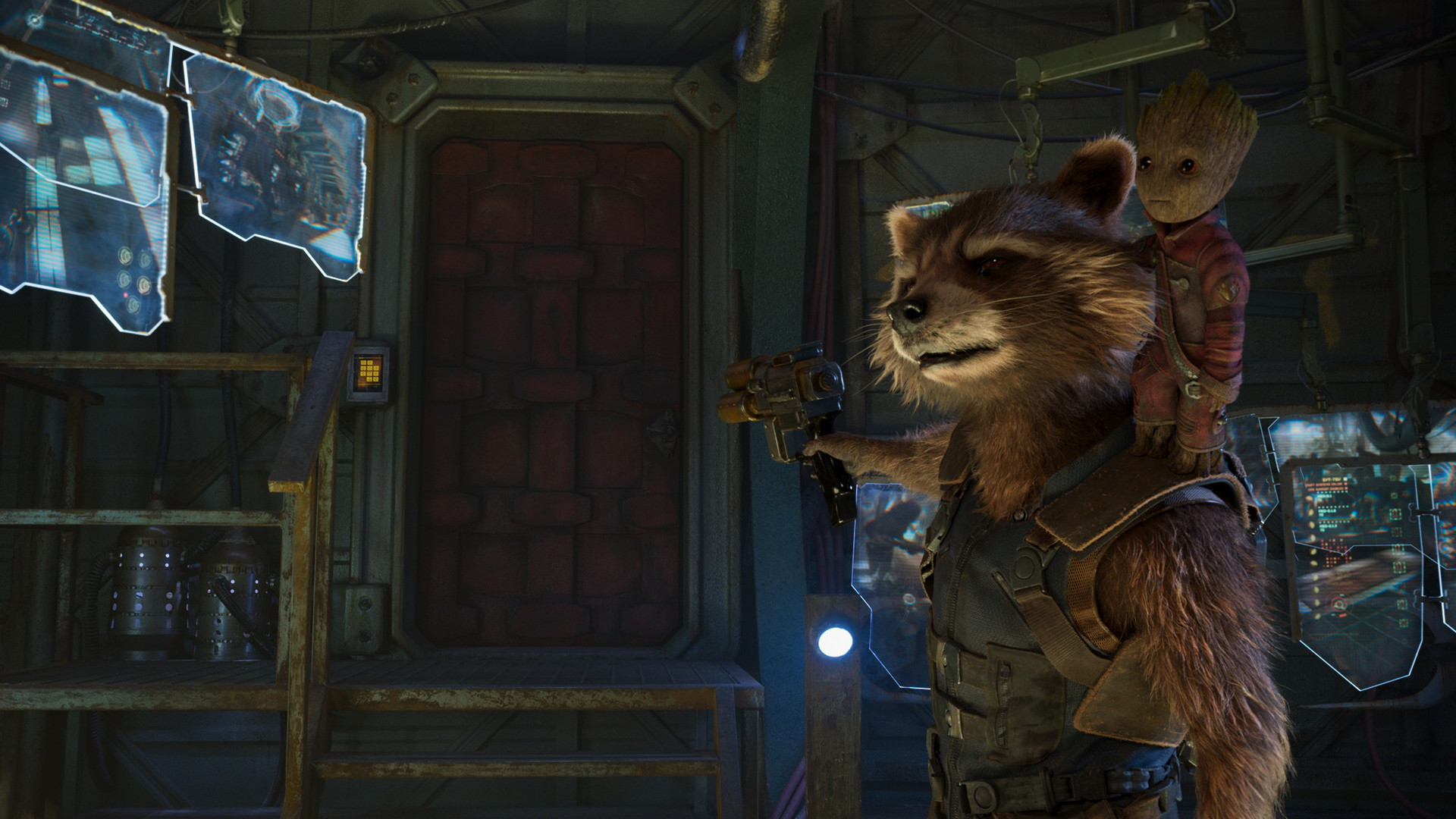 1920x1080 baby-groot-and-rocket-raccoon-in-guardians-of-