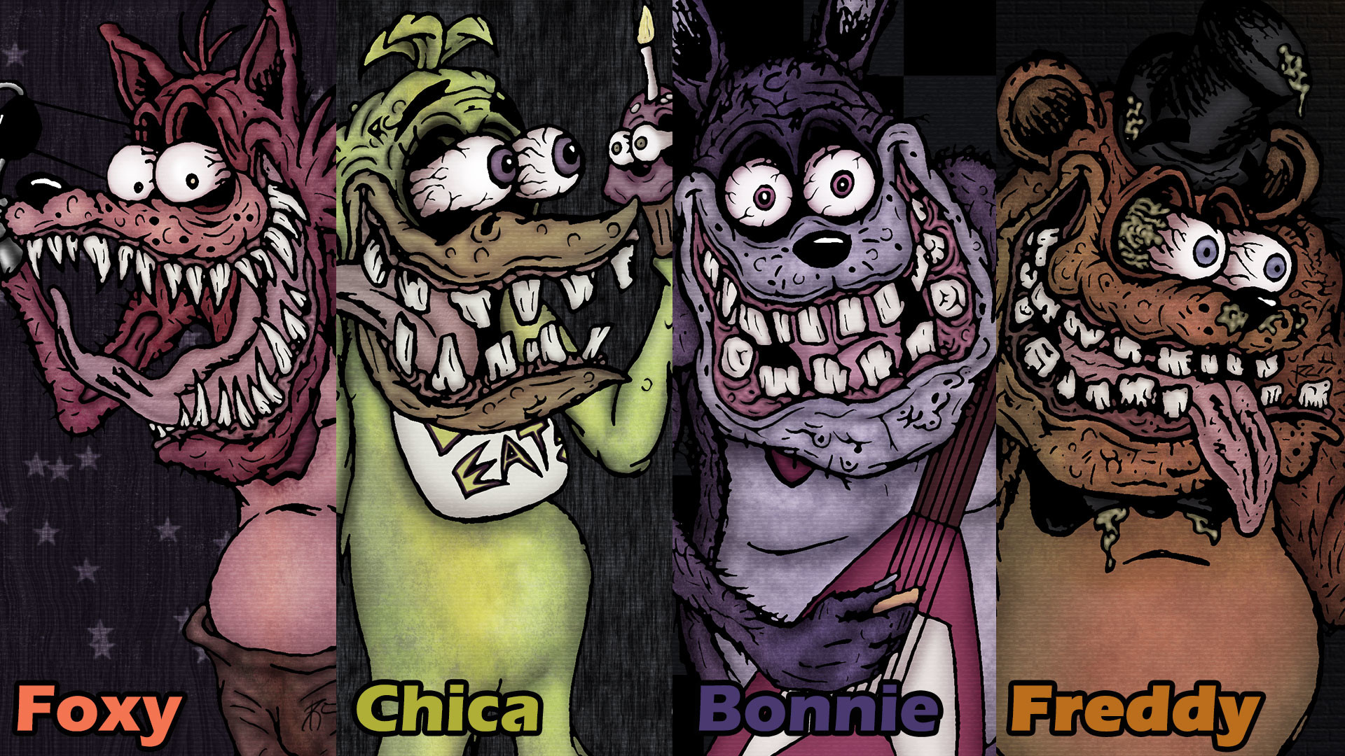 1920x1080 ... Five Nights at Freddy - Ed Roth Style (Wallpaper) by SestrenNK