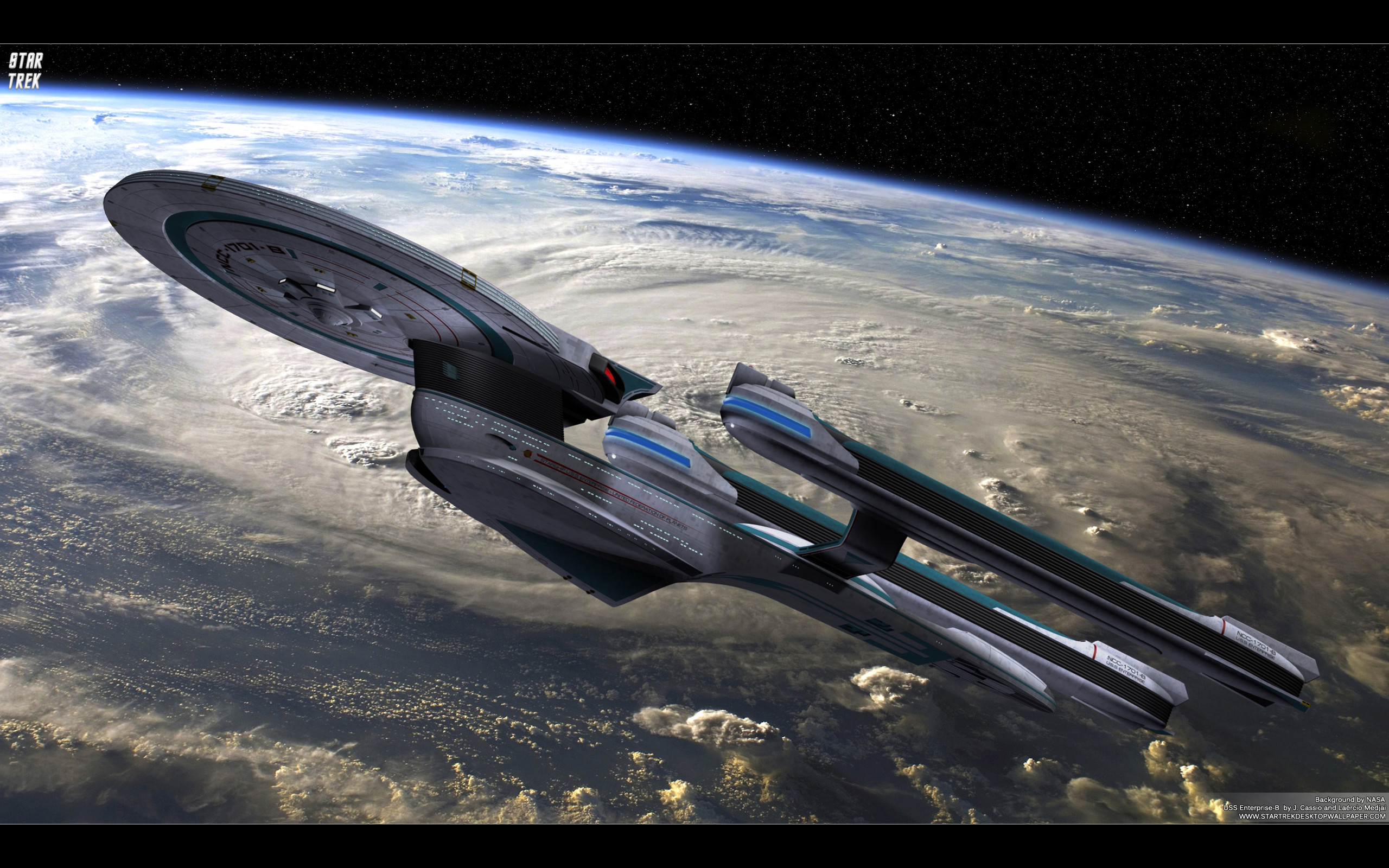 2560x1600 Star Trek USS Enterprise NCC-1701-B - free Star Trek computer desktop